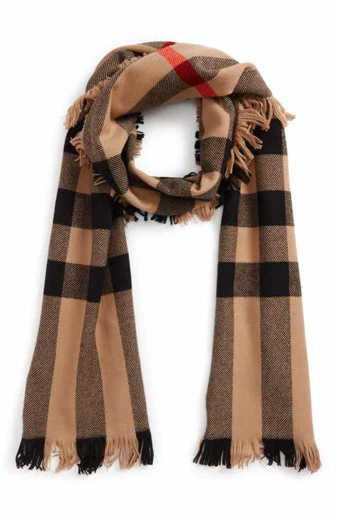 Burberry Half Mega Fashion Wool Fringe Scarf 4548b9f19a