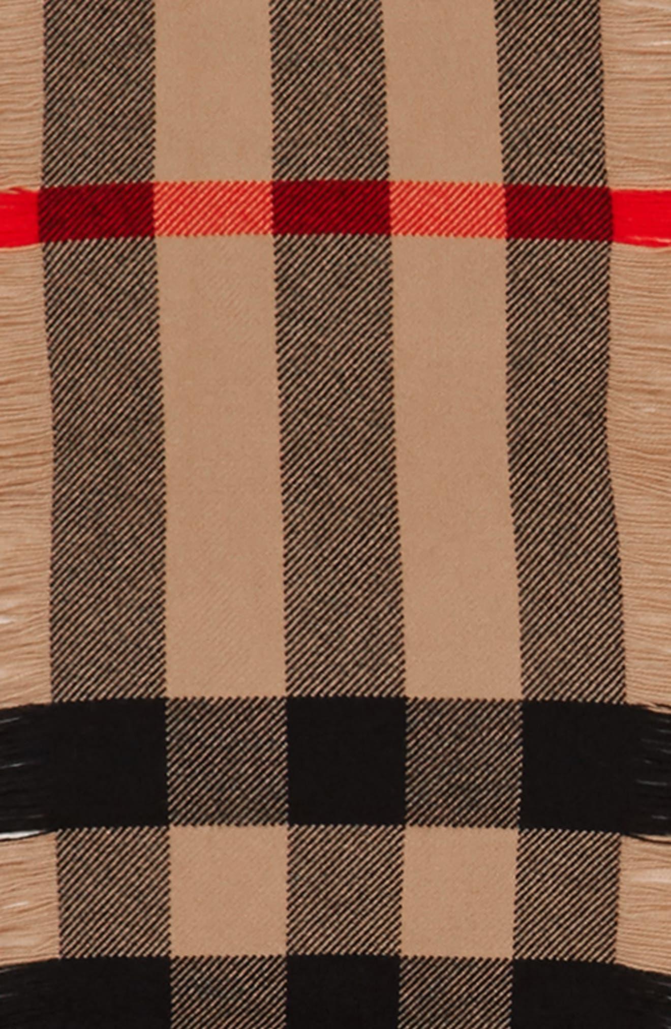Half Mega Fashion Wool Fringe Scarf,                             Alternate thumbnail 3, color,                             Camel
