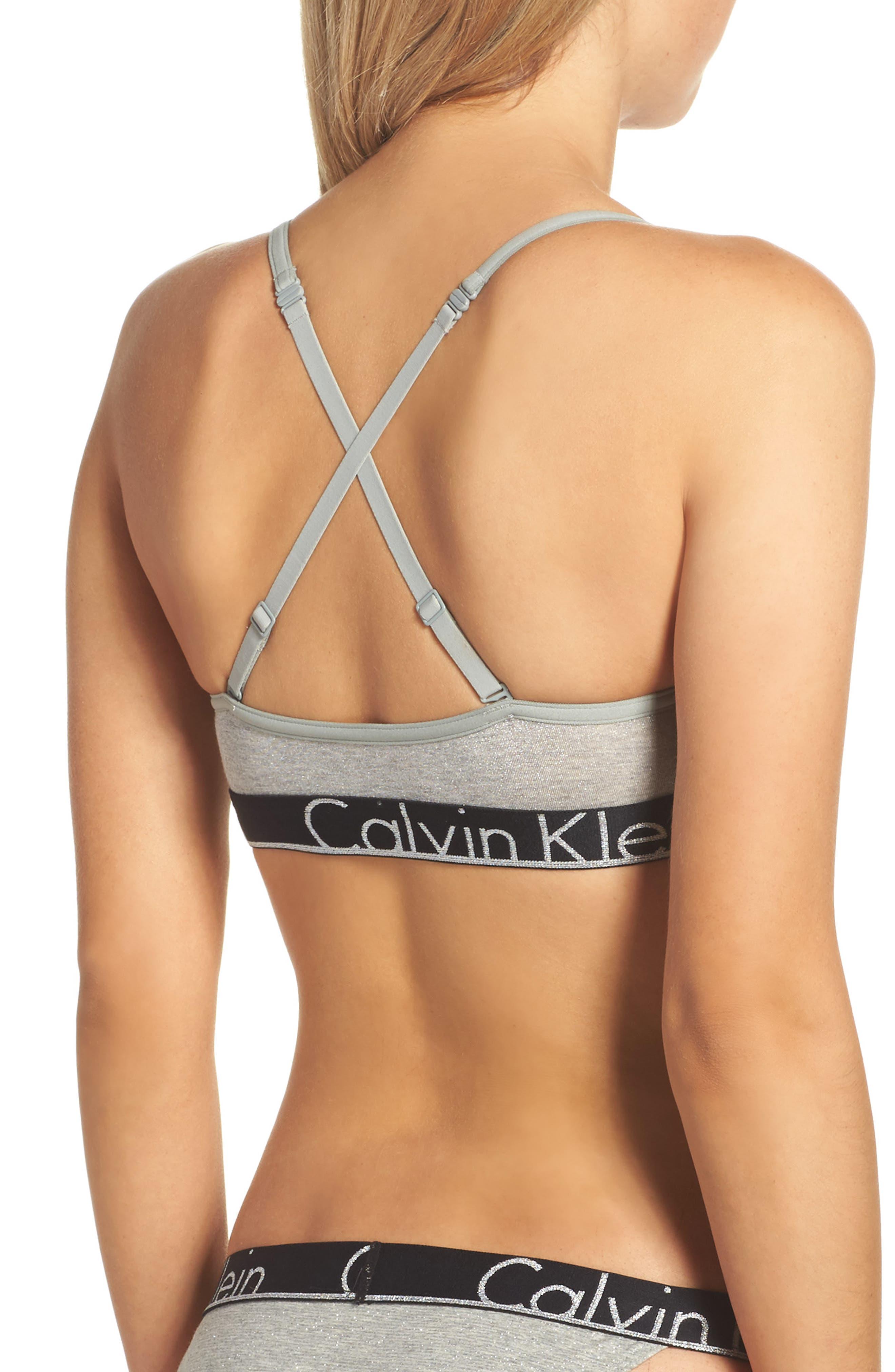 Alternate Image 3  - Calvin Klein Logo Band Bralette