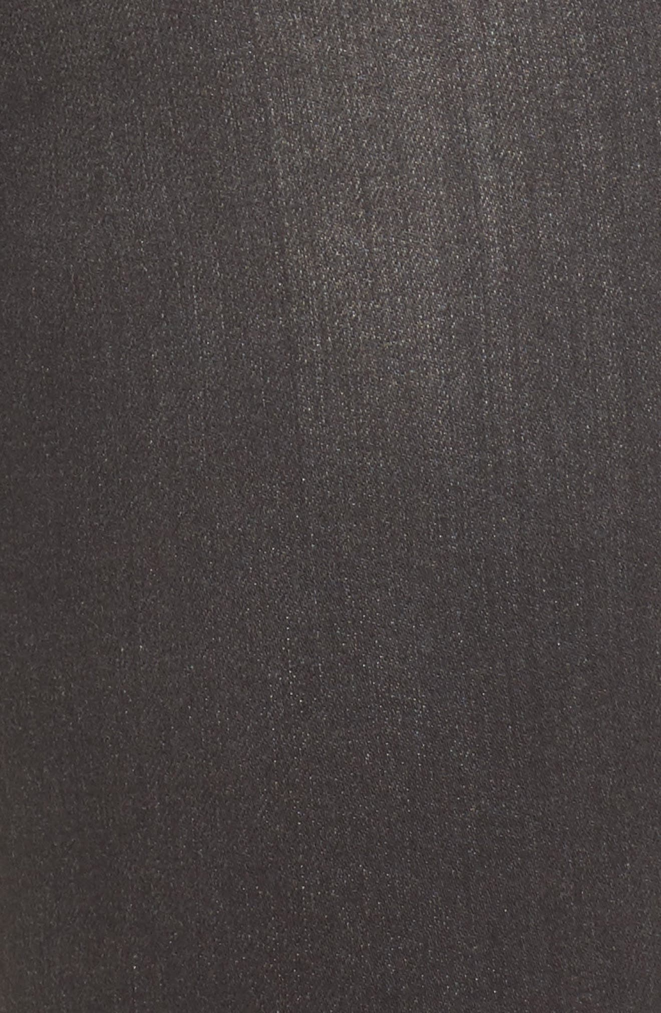 Carter Cuffed Girlfriend Jeans,                             Alternate thumbnail 5, color,                             Dark Grey