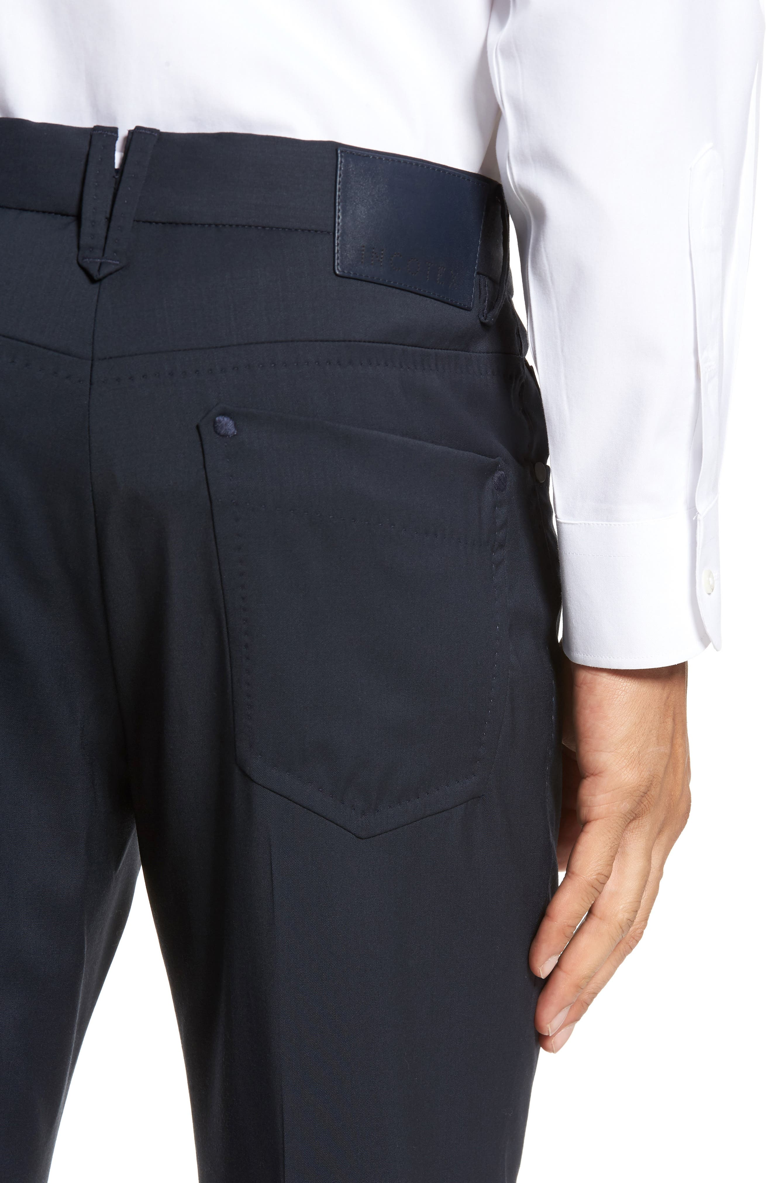 Alternate Image 4  - Incotex Five-Pocket Stretch Wool Pants