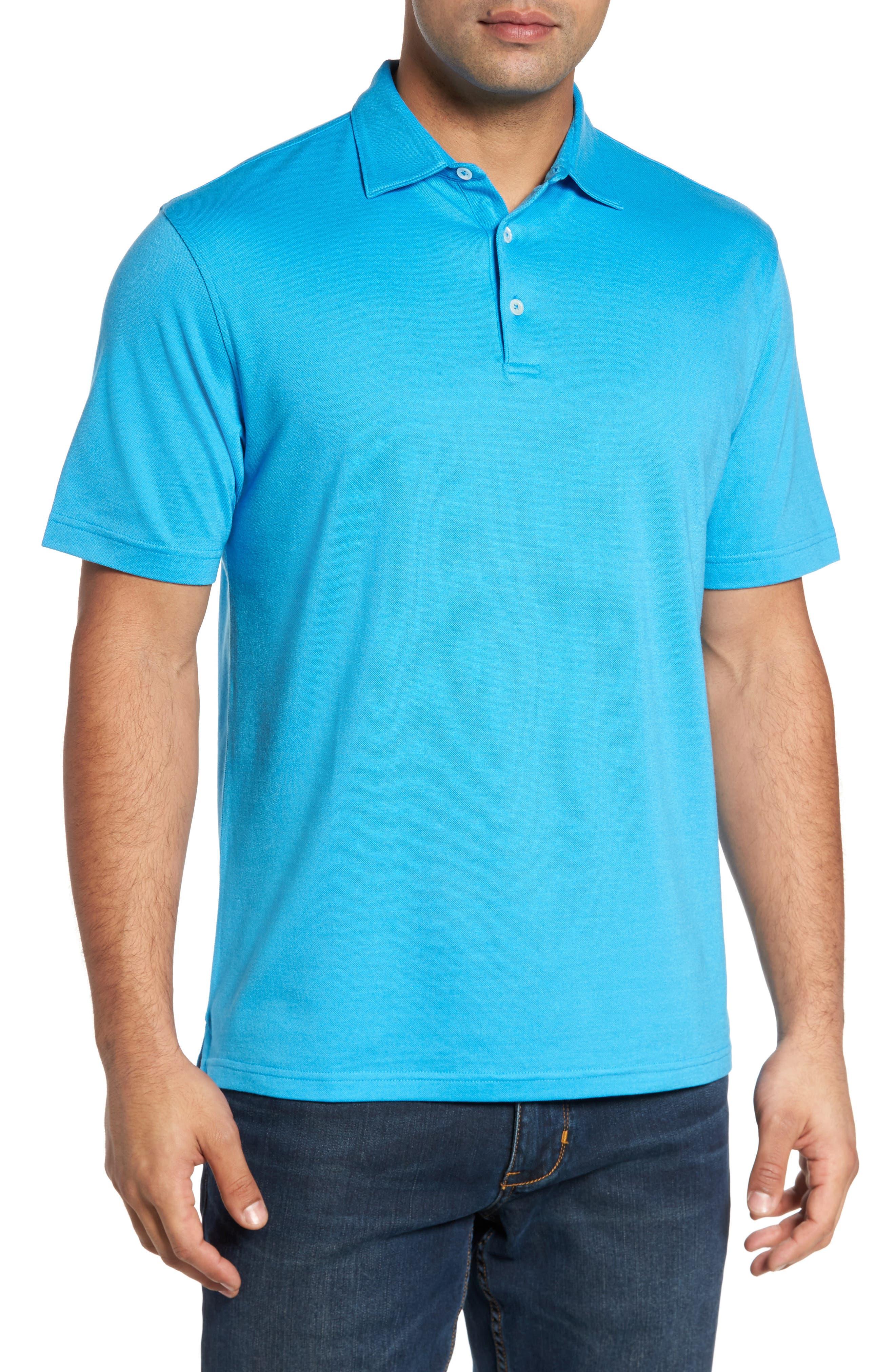 The Perfect Piqué Polo,                             Main thumbnail 1, color,                             Onda Blue