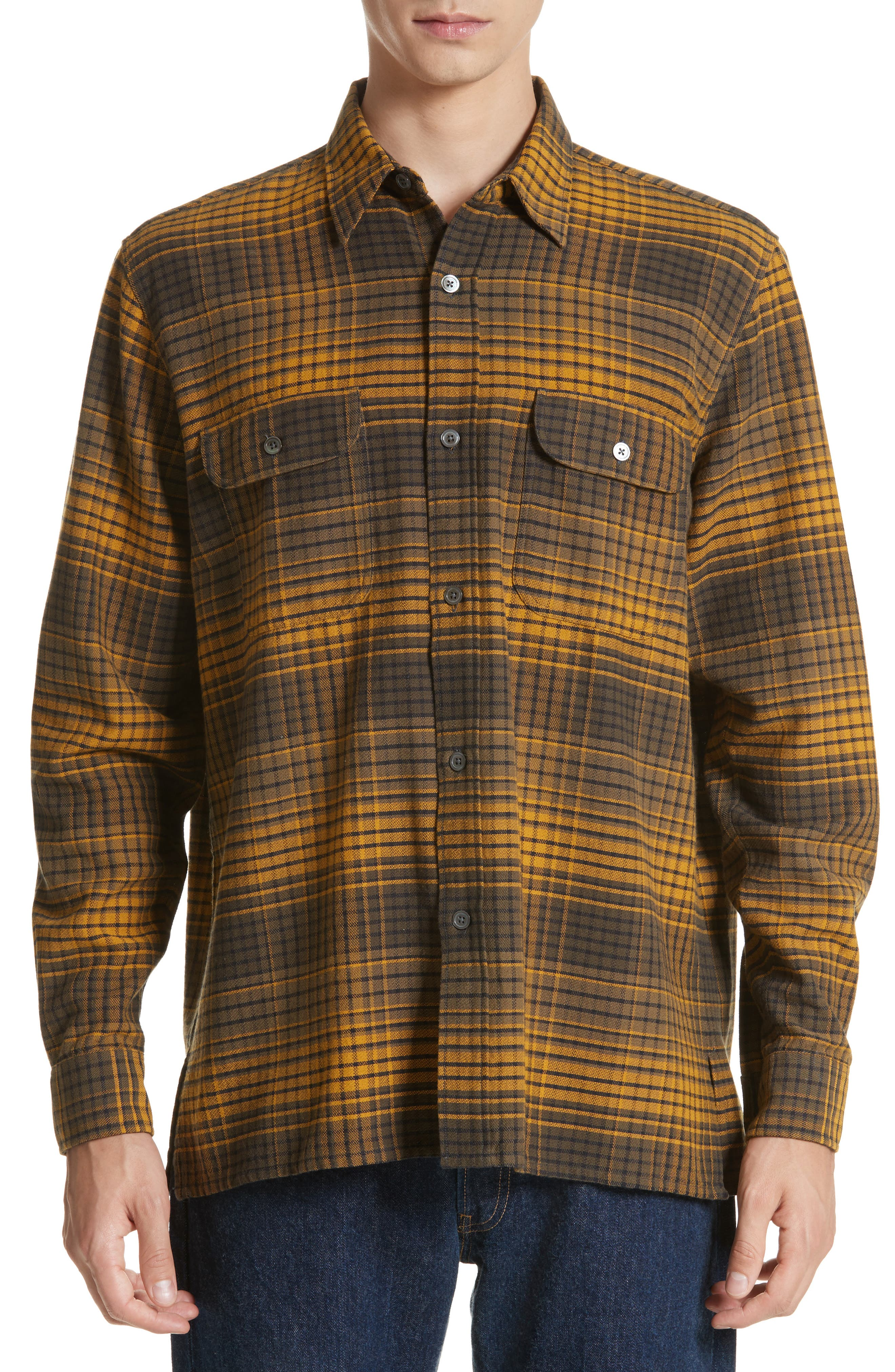 OUR LEGACY Country Plaid Flannel Shirt