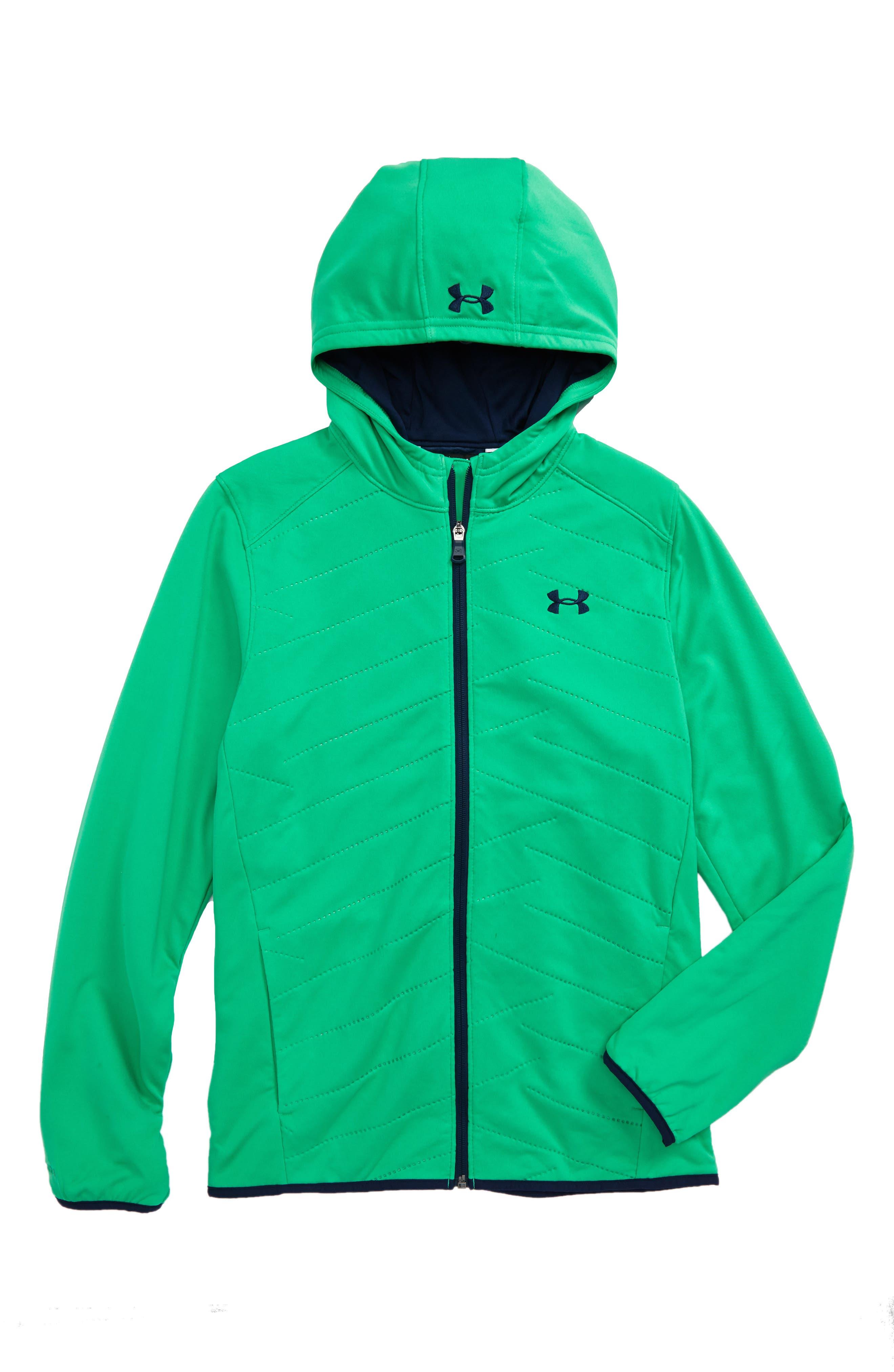 ColdGear<sup>®</sup> Reactor Hybrid Hooded Jacket,                         Main,                         color, Jade/ Academy