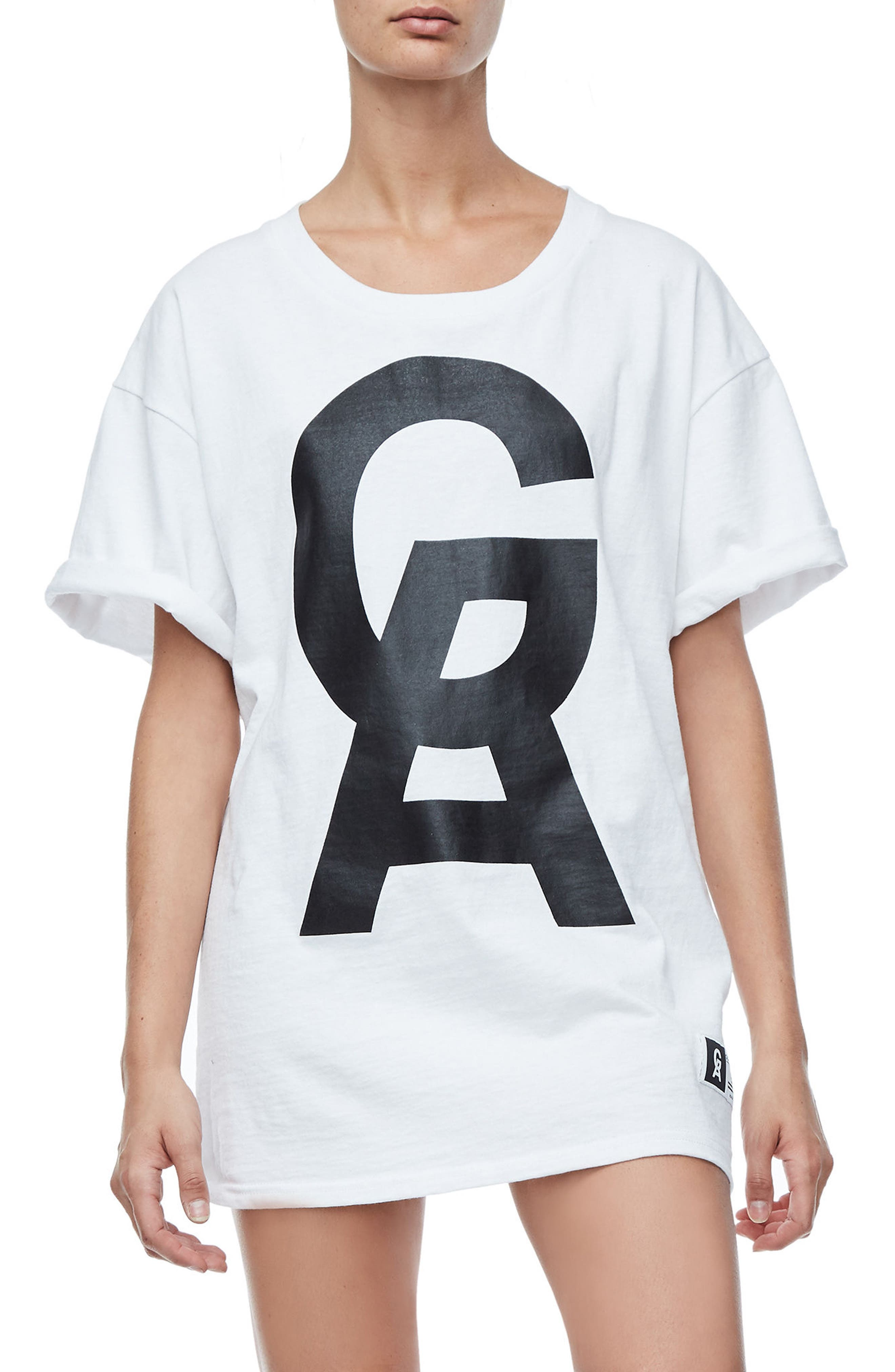 Goodies Short Sleeve Oversize Tee,                         Main,                         color, White001