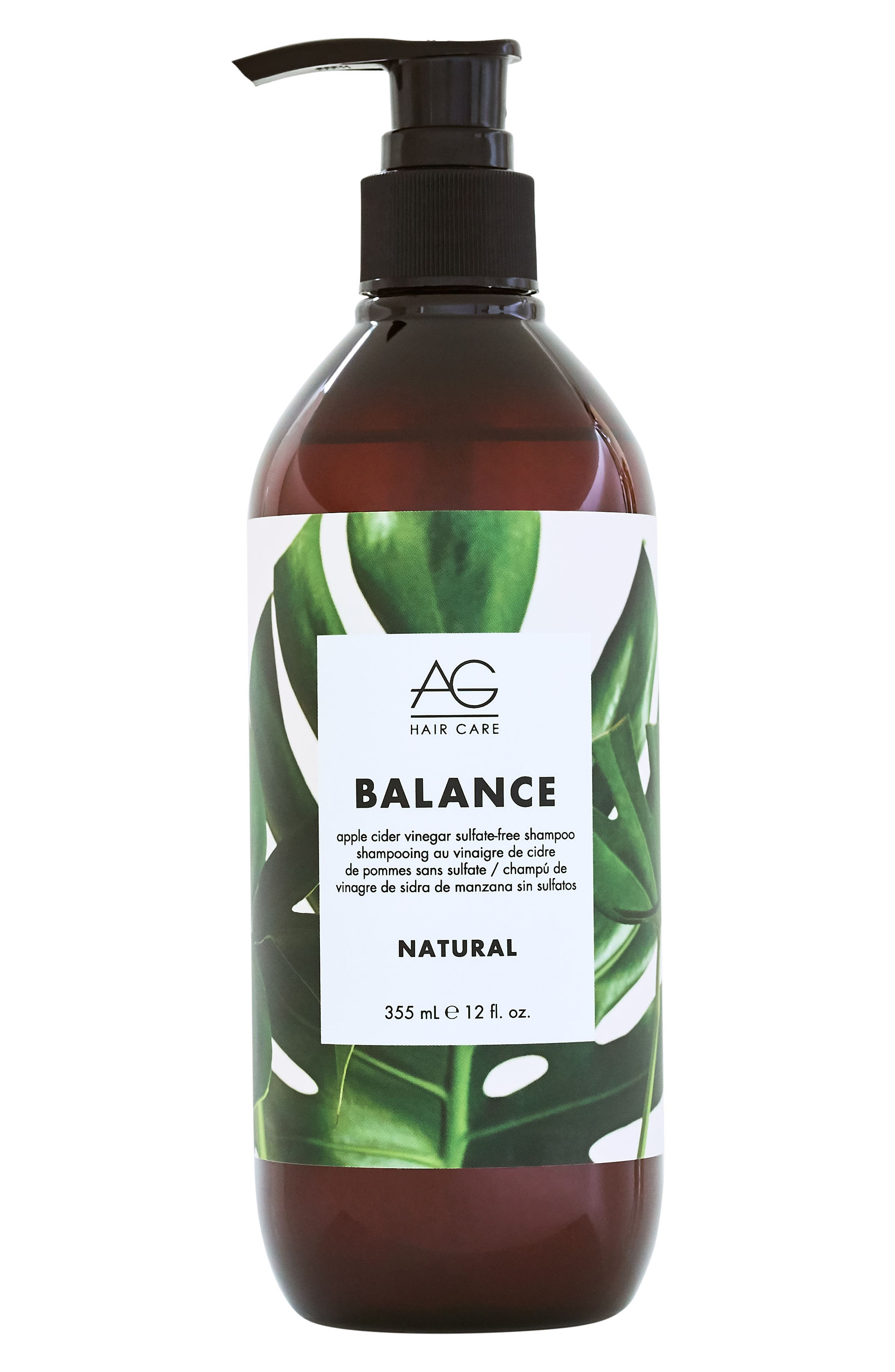 Balance Apple Cider Vinegar Sulfate Free Shampoo,                             Main thumbnail 1, color,                             No Color