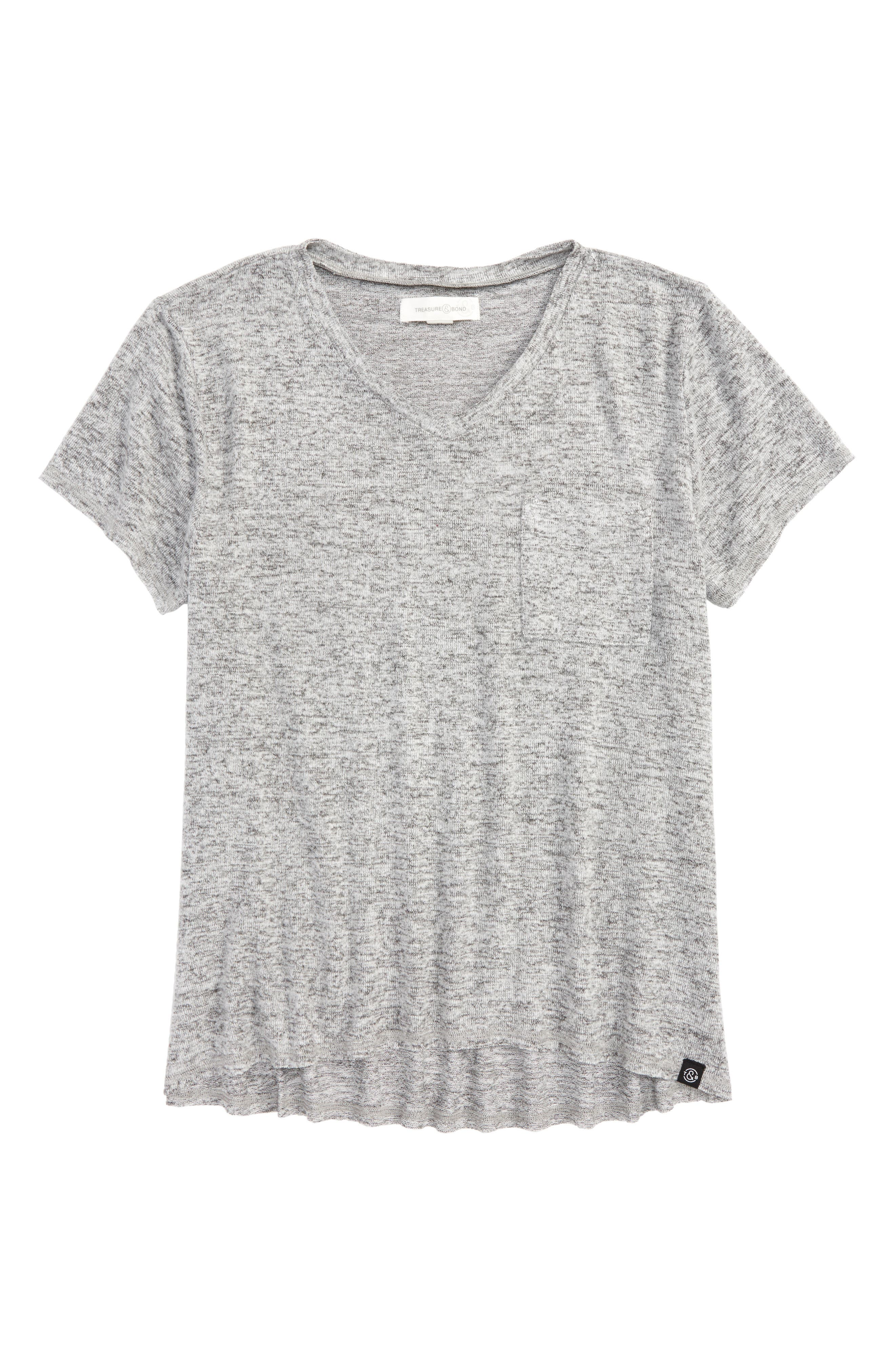 Treasure & Bond Oversized Pocket Tee (Big Girls)