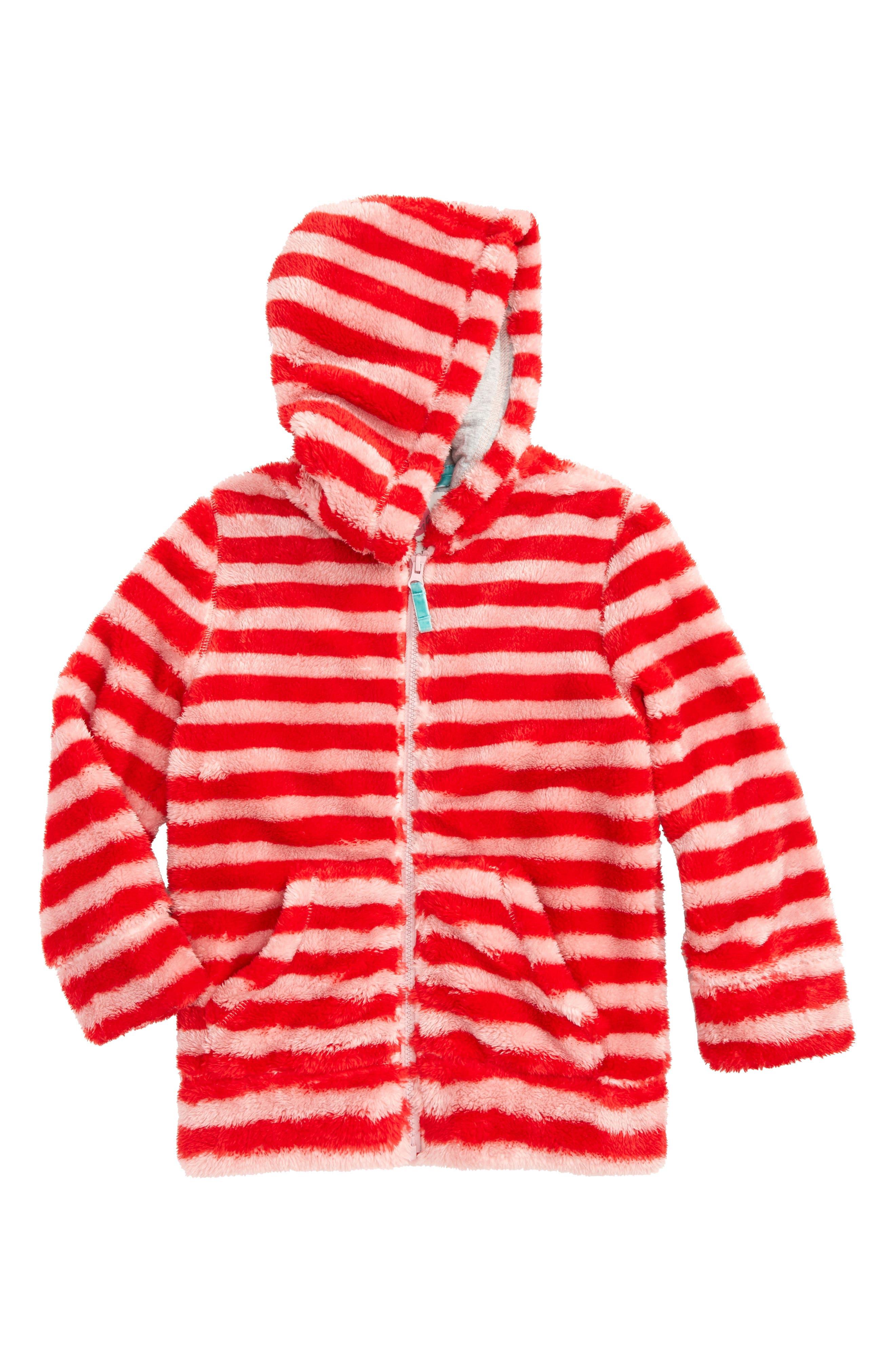 Alternate Image 1 Selected - Mini Boden Teddy Zip-Up Hoodie (Toddler Girls, Little Girls & Big Girls)