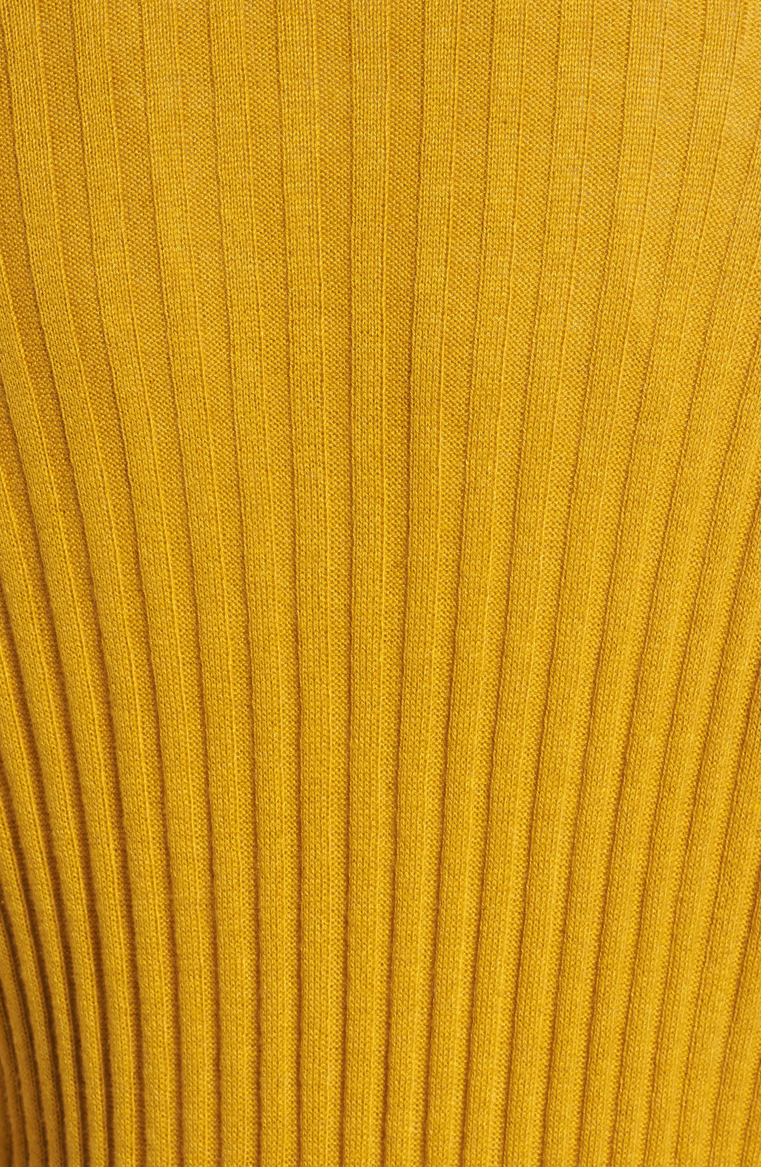 Rib Knit Midi Cardigan,                             Alternate thumbnail 7, color,                             Olive Arrowwood