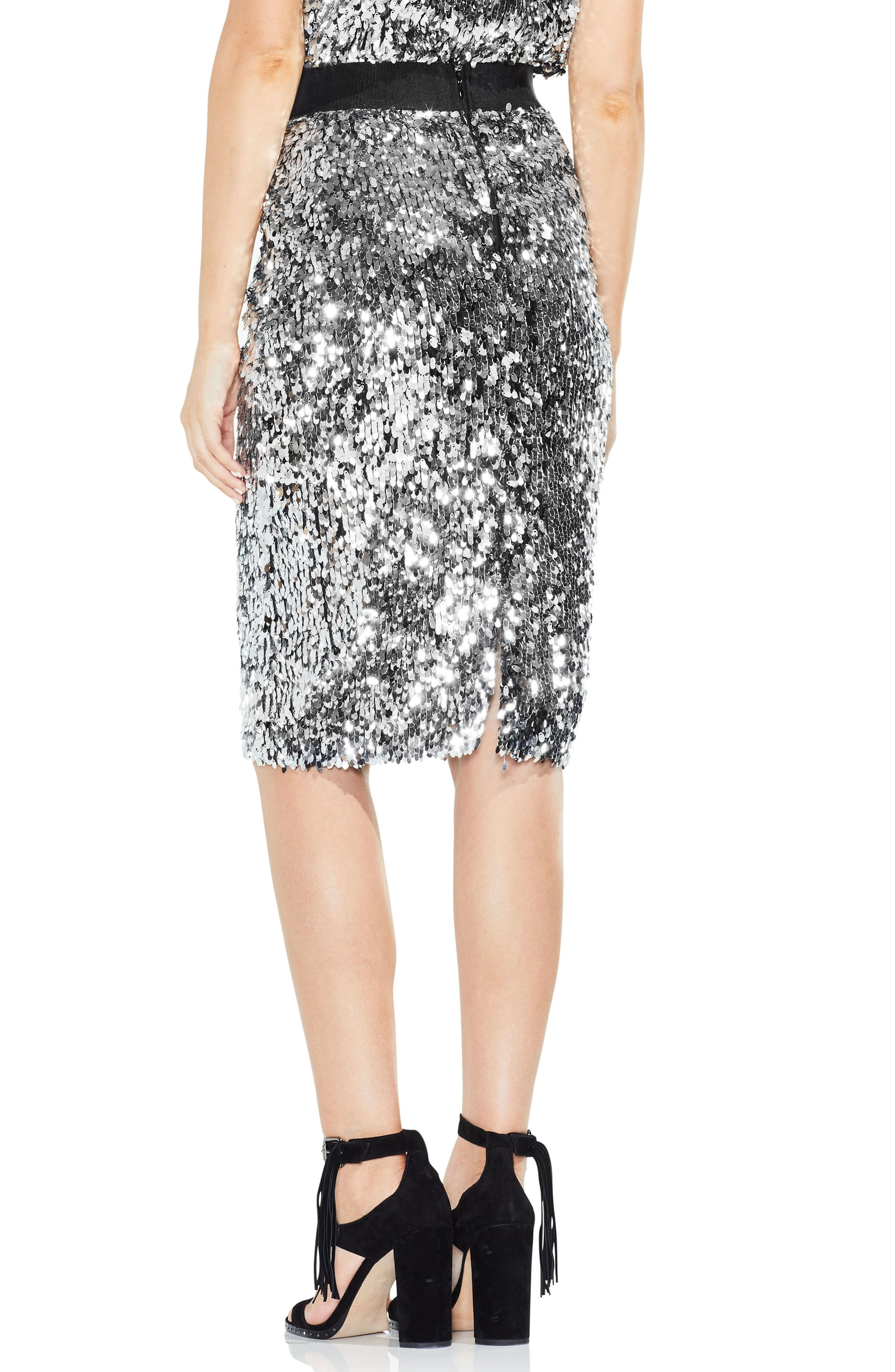 Alternate Image 2  - Vince Camuto Allover Sequin Pencil Skirt