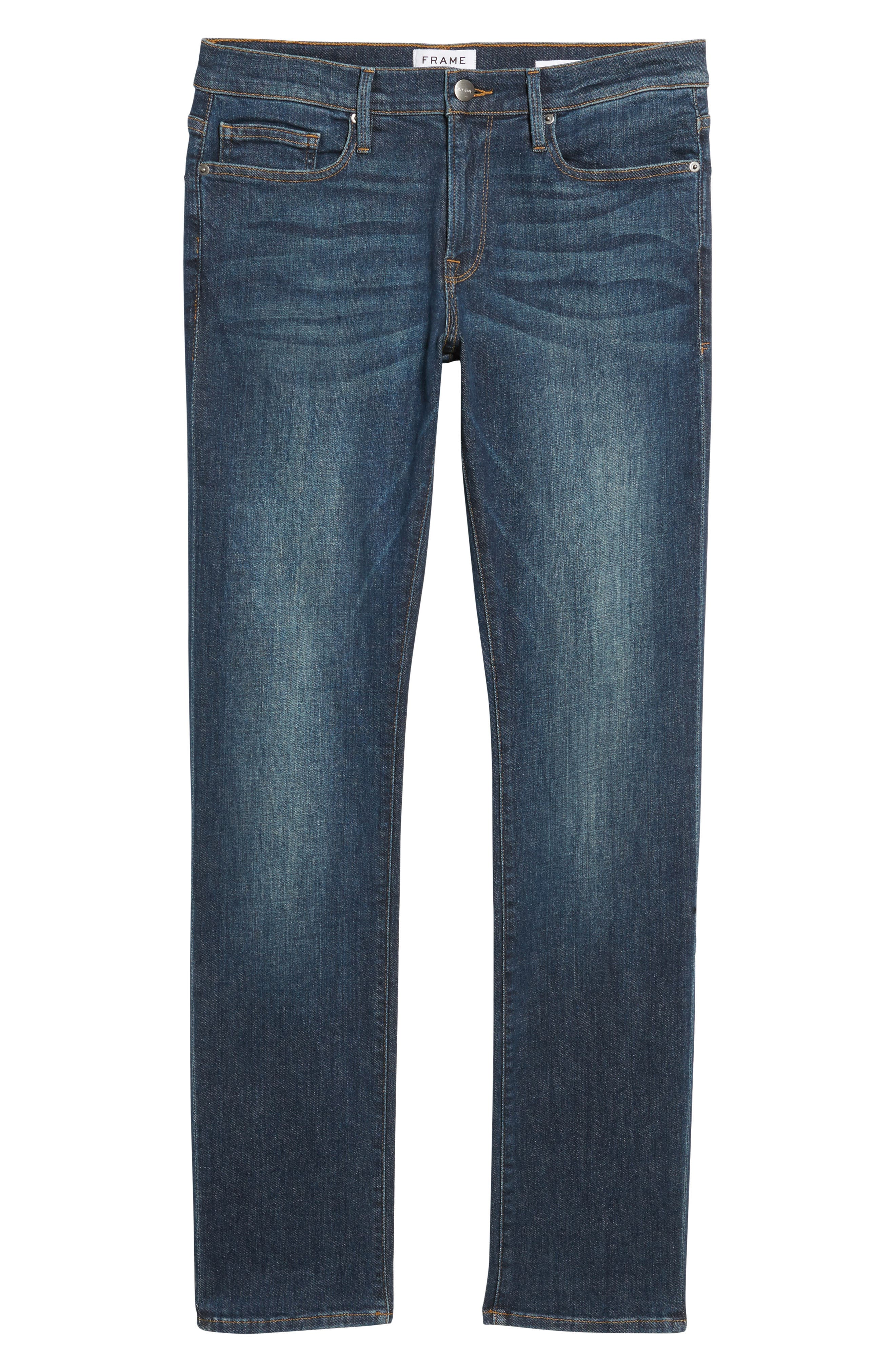 Alternate Image 6  - FRAME L'Homme Slim Fit Jeans (Midway Park)