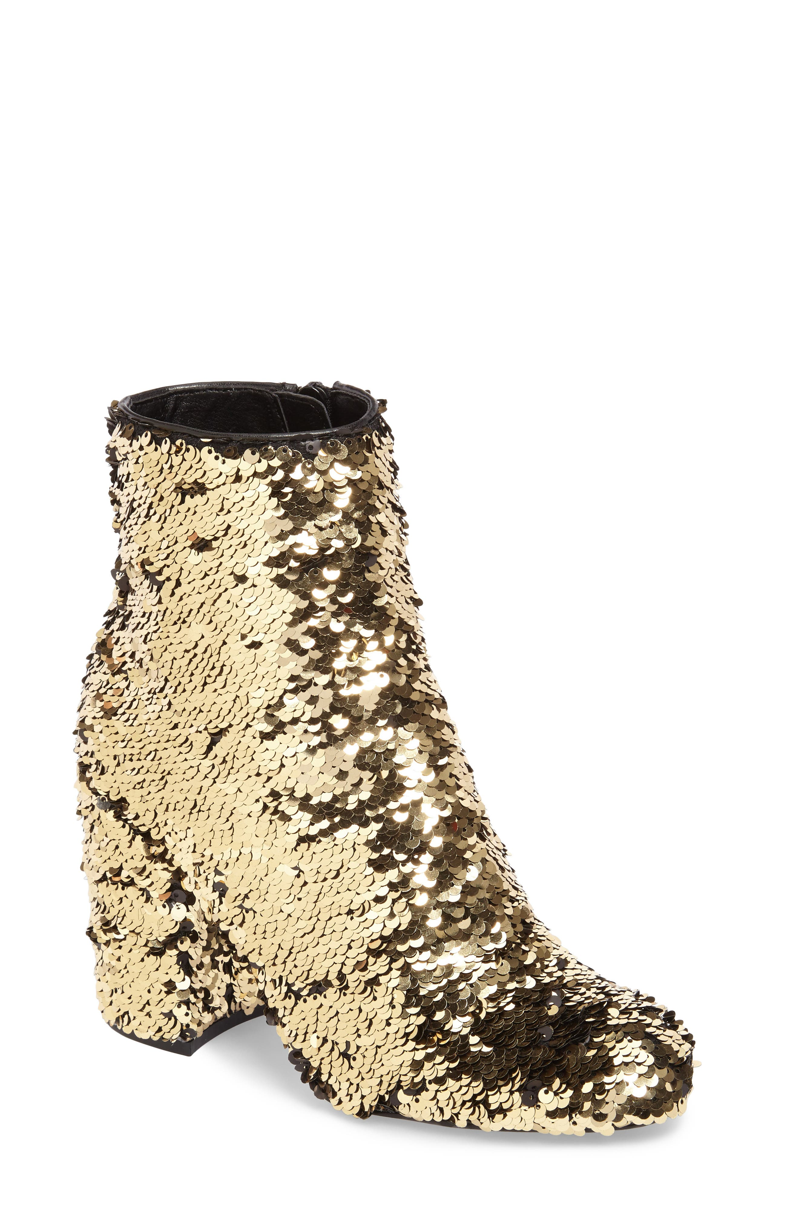 Georgia Sequin Bootie,                         Main,                         color, Gold