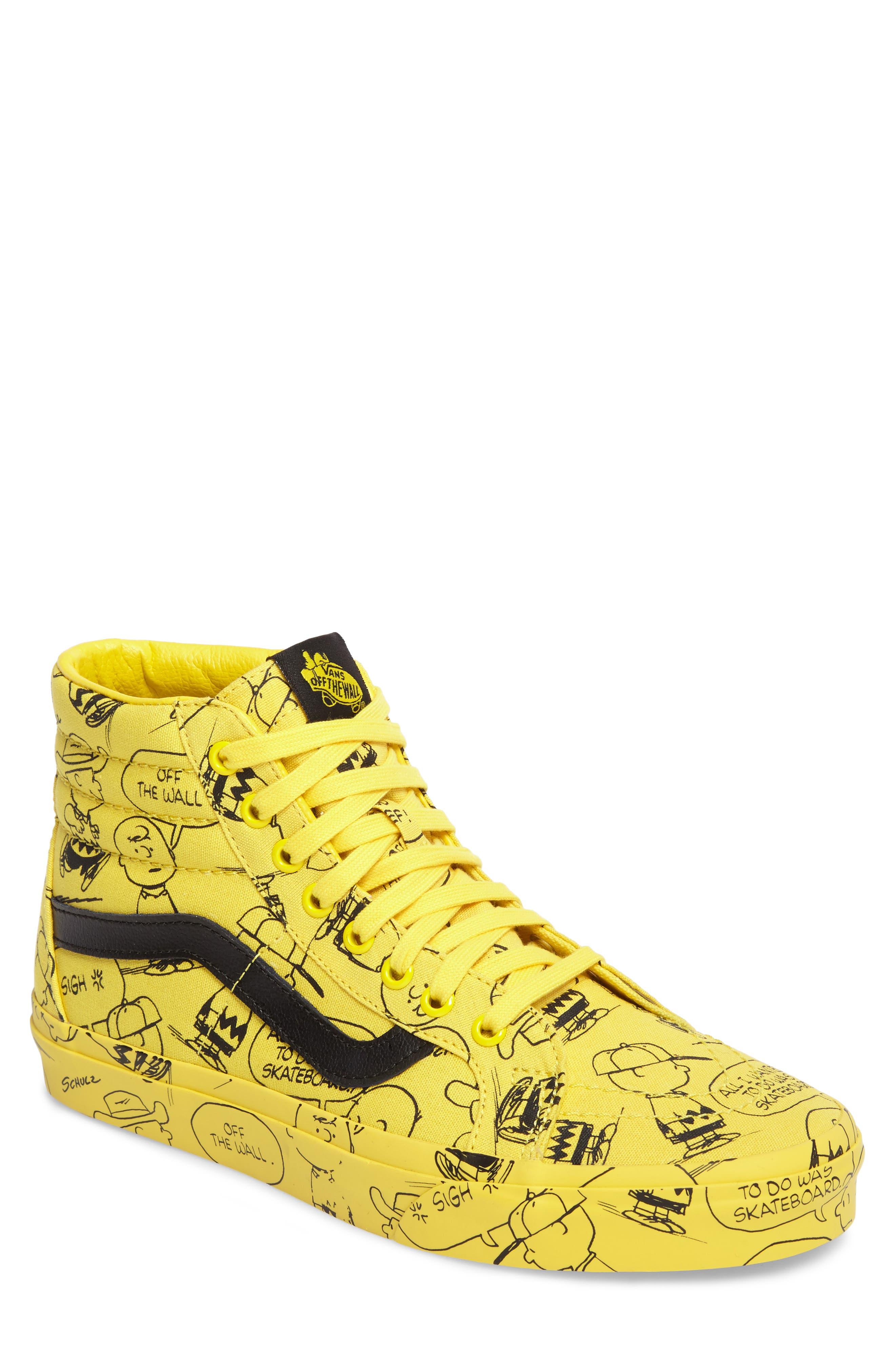 x Peanuts<sup>®</sup> Sk8-Hi Reissue Sneaker,                             Main thumbnail 1, color,                             Maize Canvas