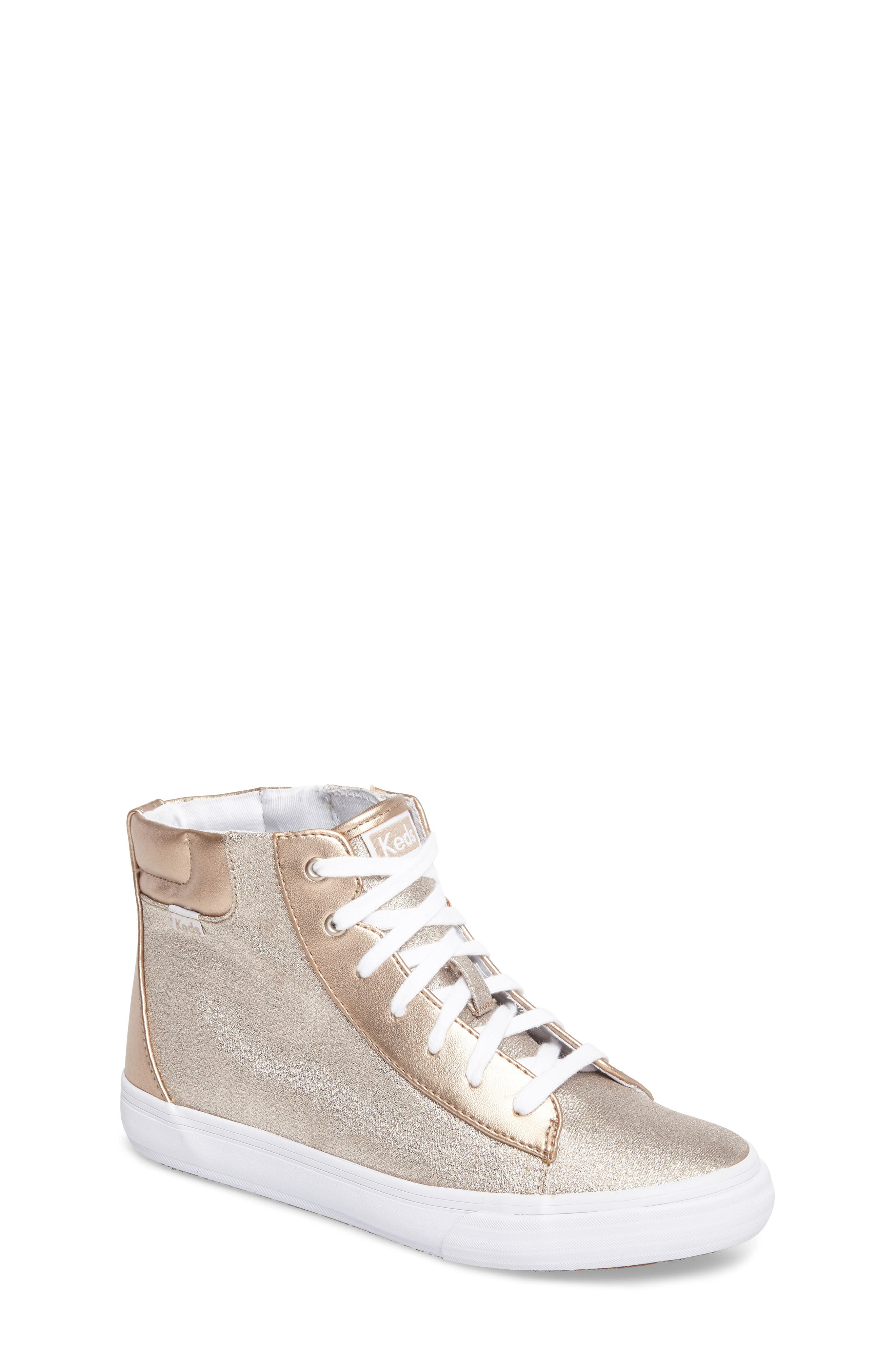 Double Up High Top Sneaker,                         Main,                         color, Rose Gold