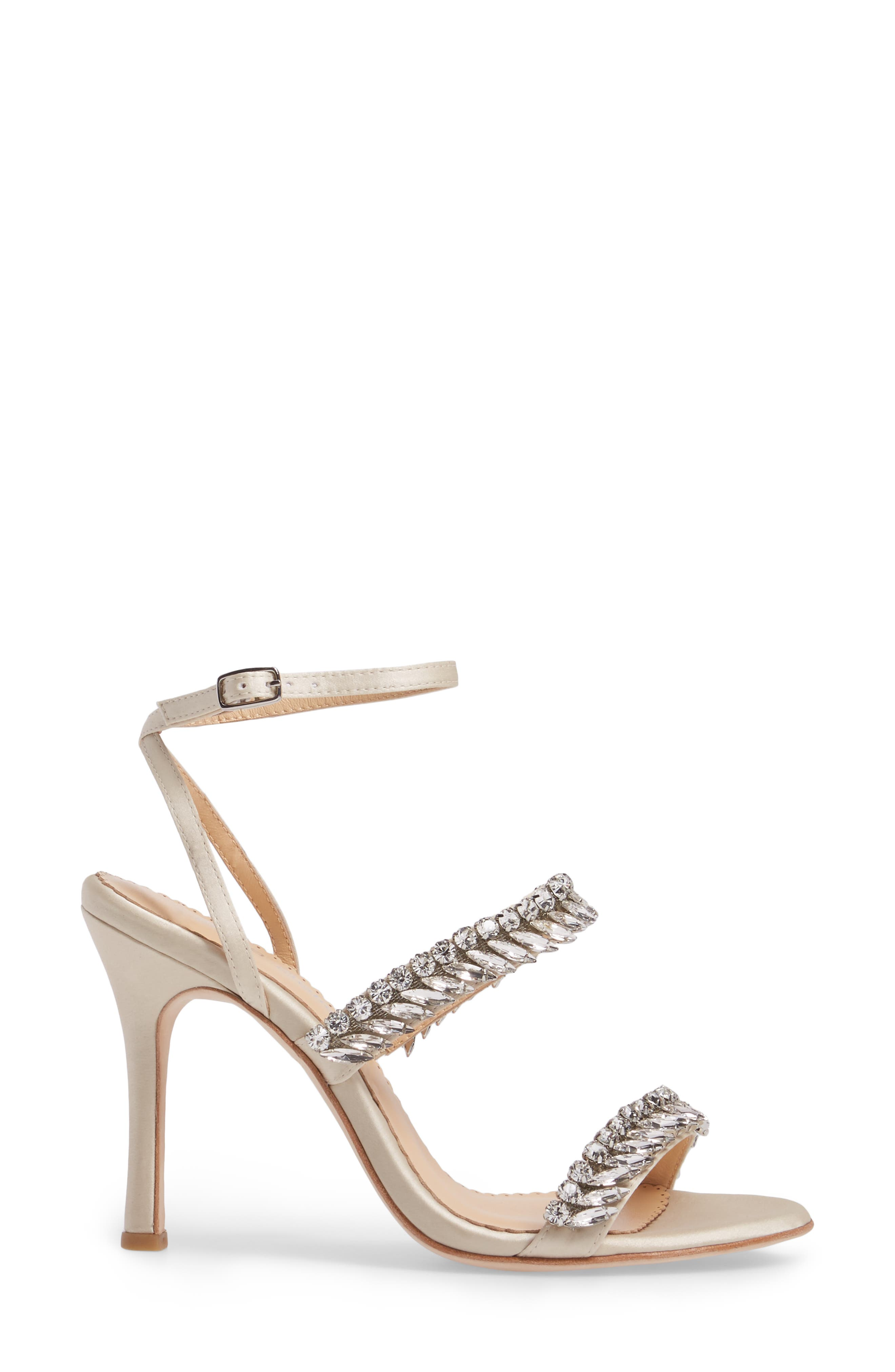 Belinda Embellished Sandal,                             Alternate thumbnail 3, color,                             Champagne