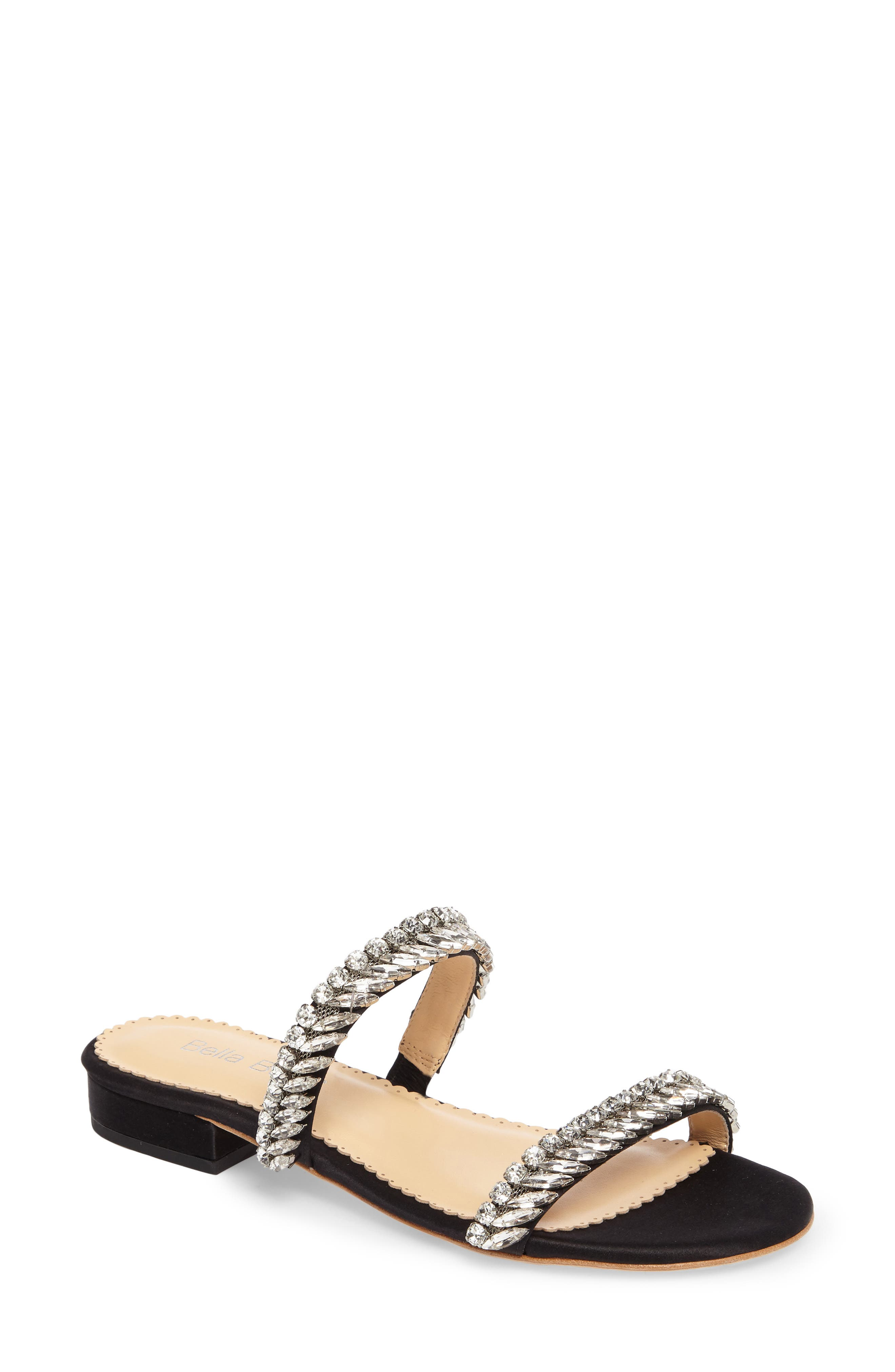 Bree Jeweled Evening Sandal,                         Main,                         color, Black