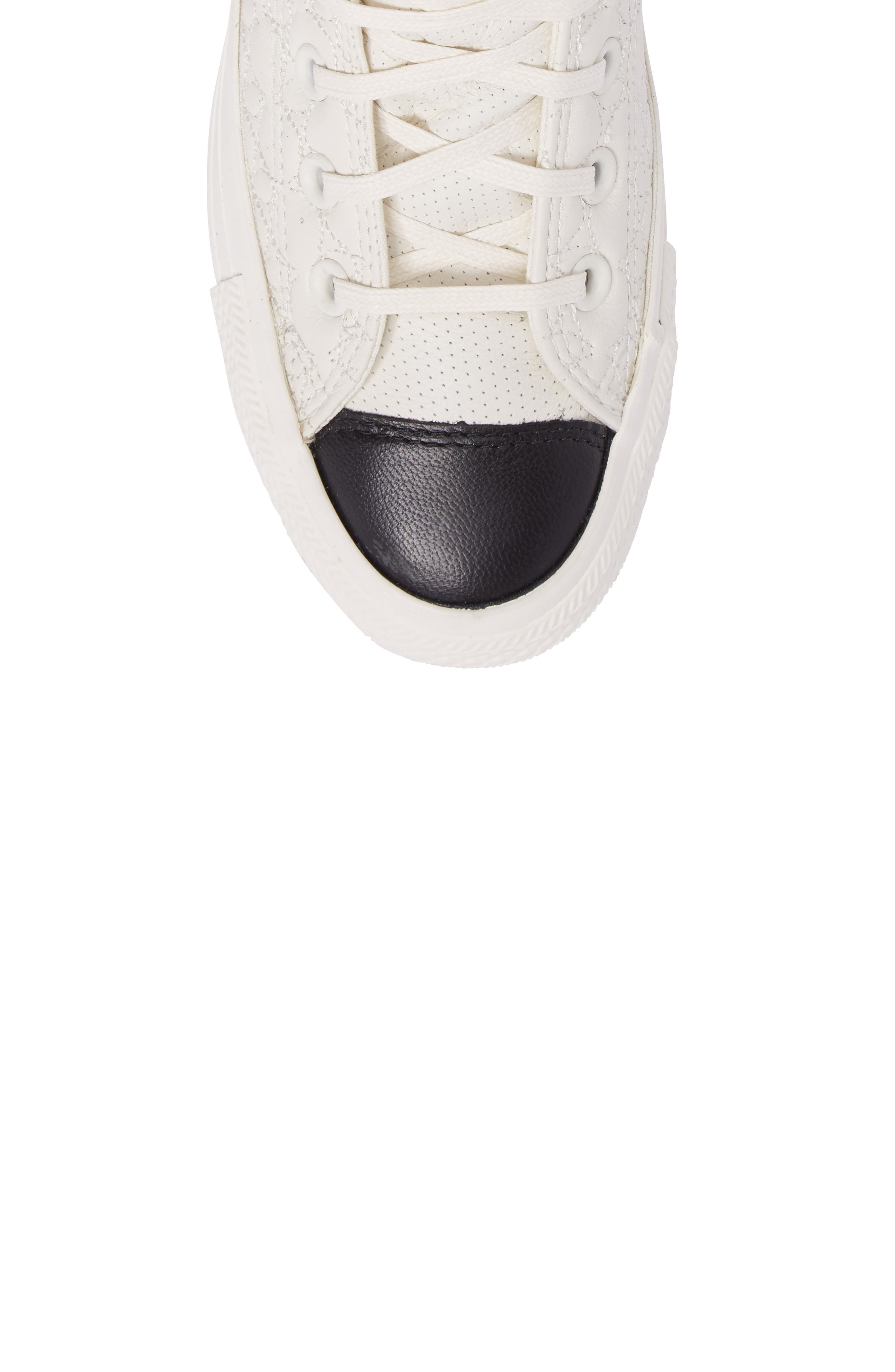 All Star<sup>®</sup> Quilted High Top Sneaker,                             Alternate thumbnail 5, color,                             Egret Leather