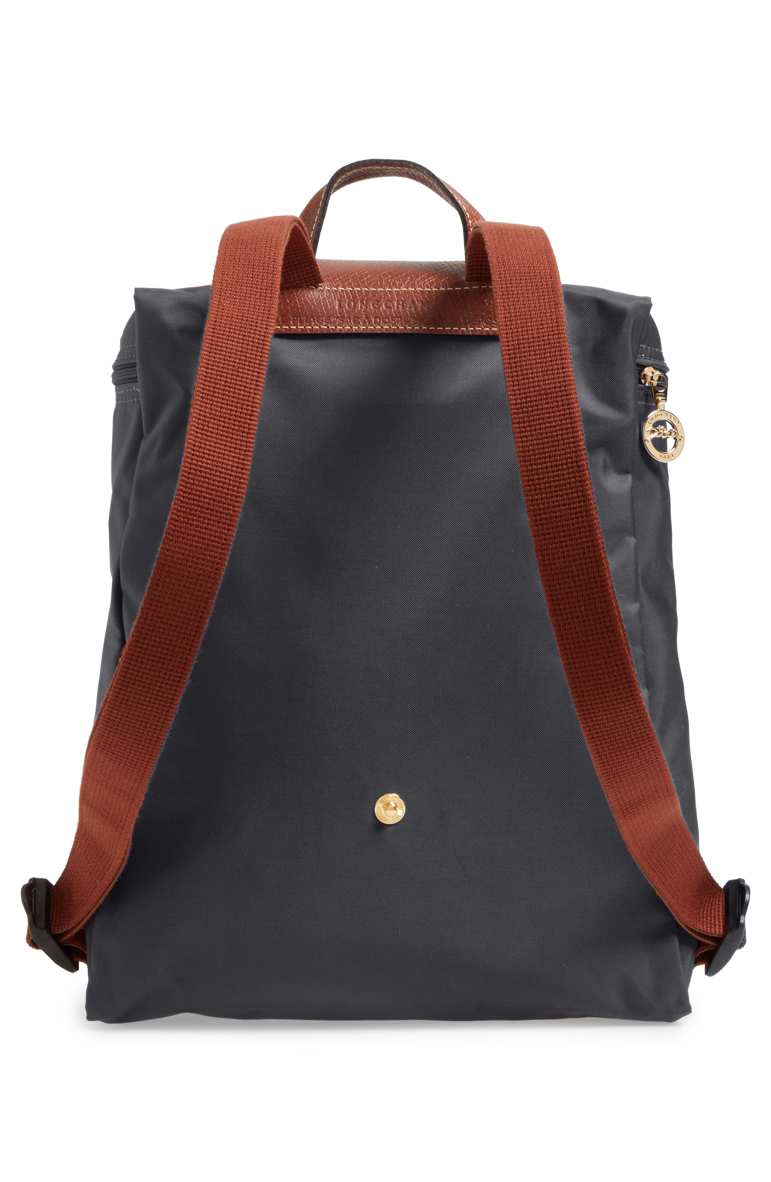 'Le Pliage' Backpack,                             Alternate thumbnail 3, color,                             Gunmetal