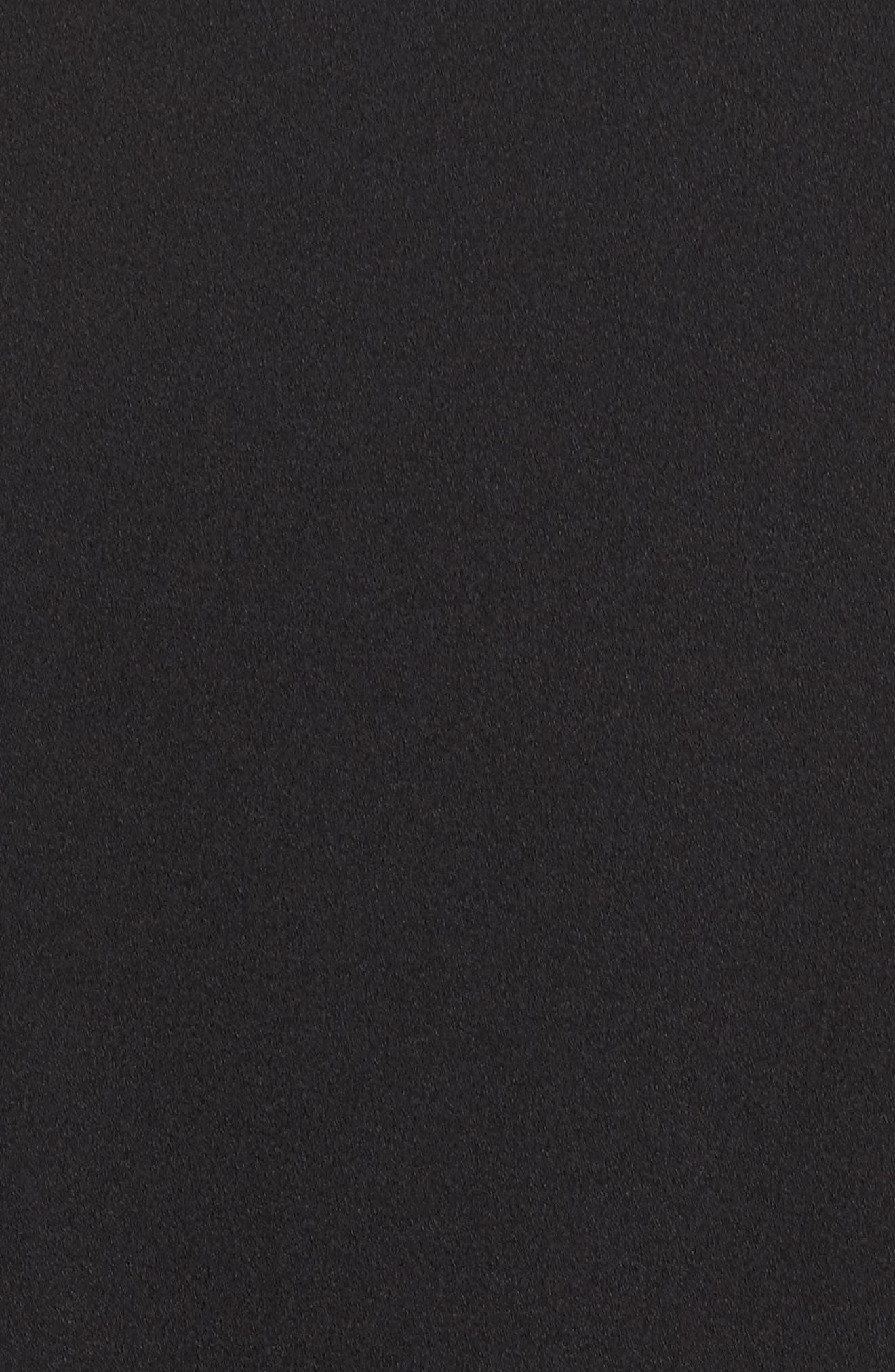 Crepe Drop Waist Dress,                             Alternate thumbnail 5, color,                             Black