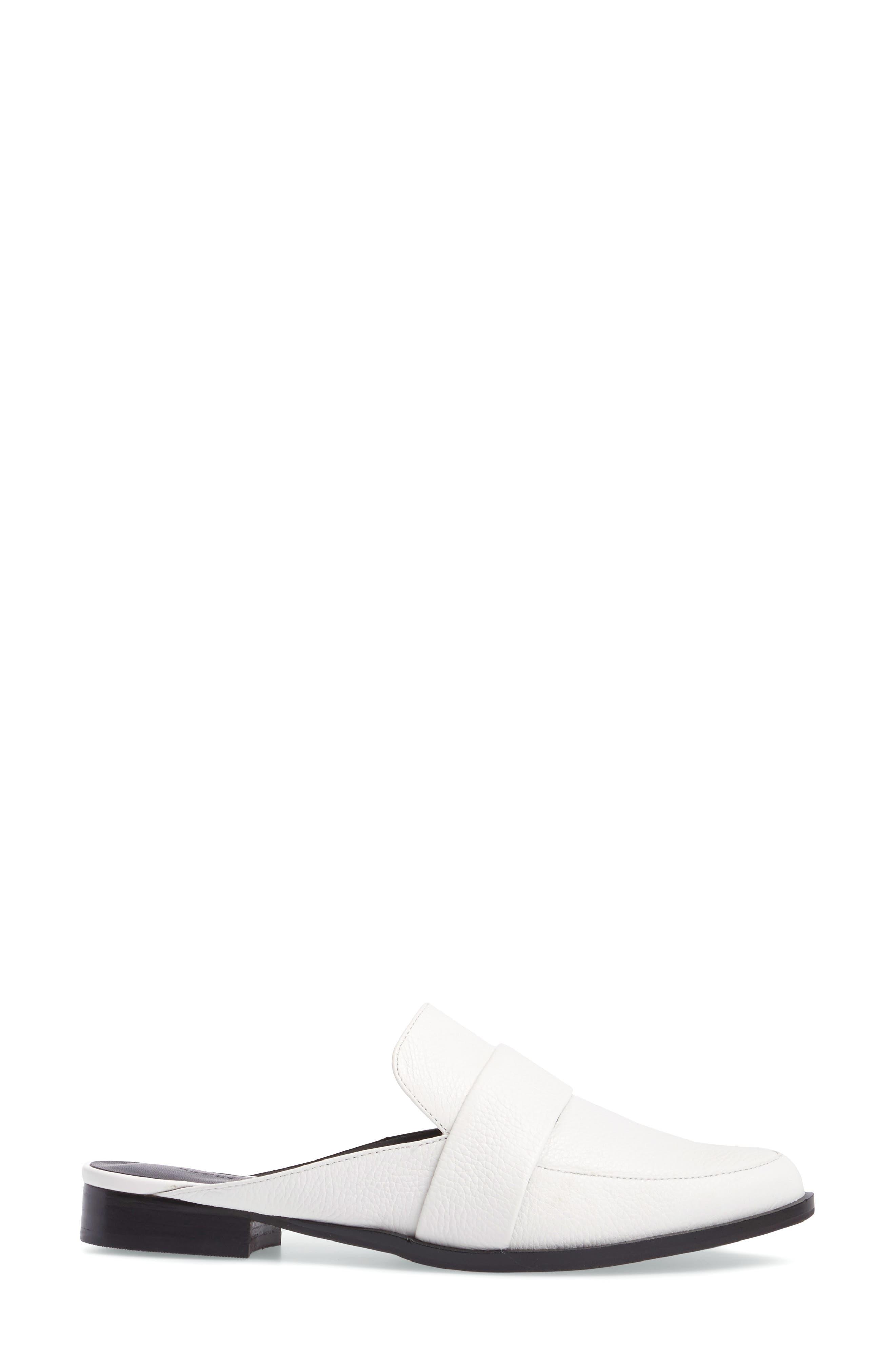 'Mika' Mule,                             Alternate thumbnail 4, color,                             White Leather