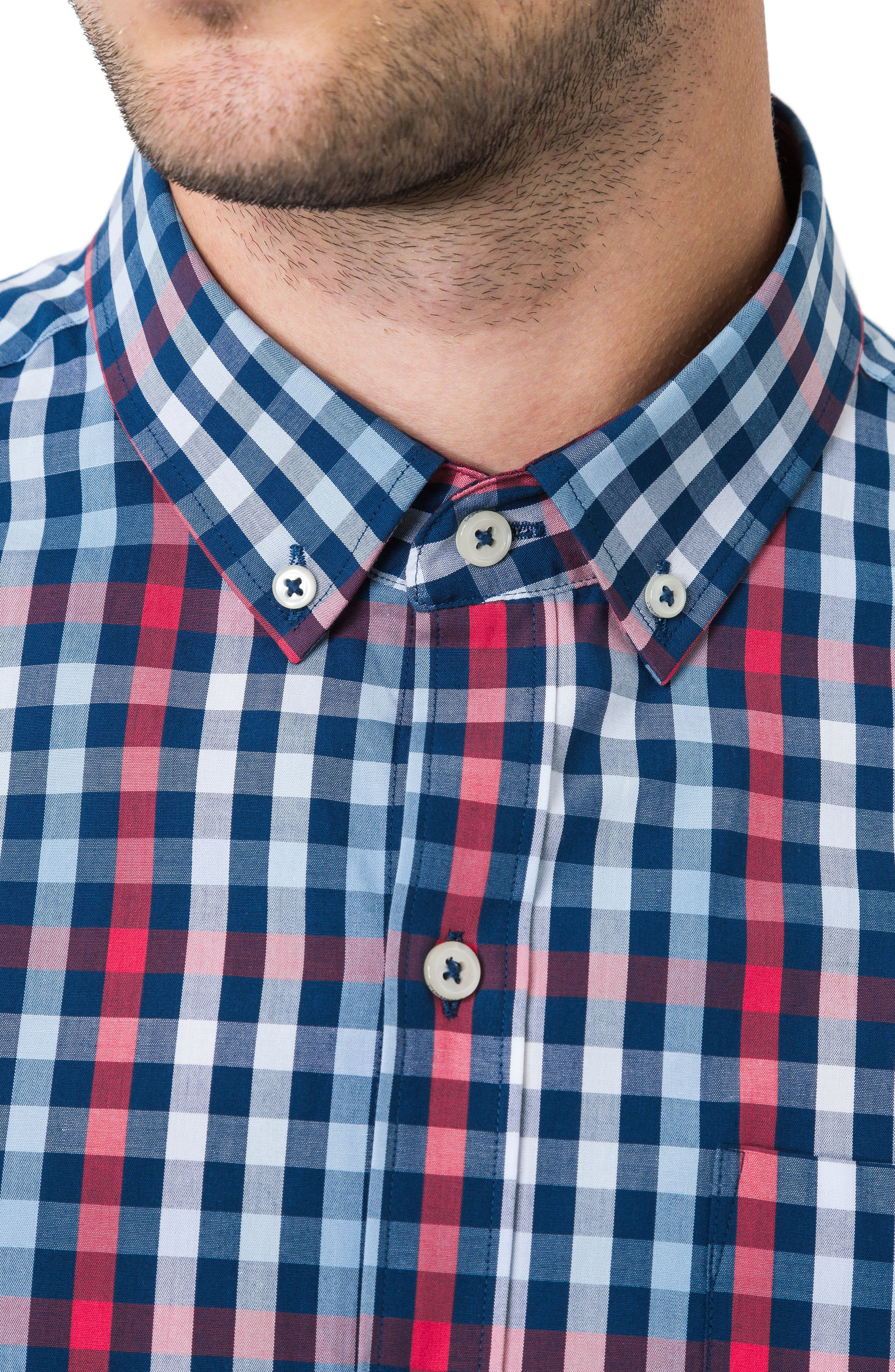 Year One Woven Shirt,                             Alternate thumbnail 3, color,                             Navy