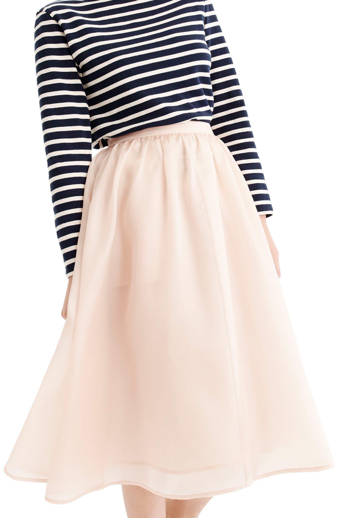 J.Crew Puffs Silk Organza Skirt