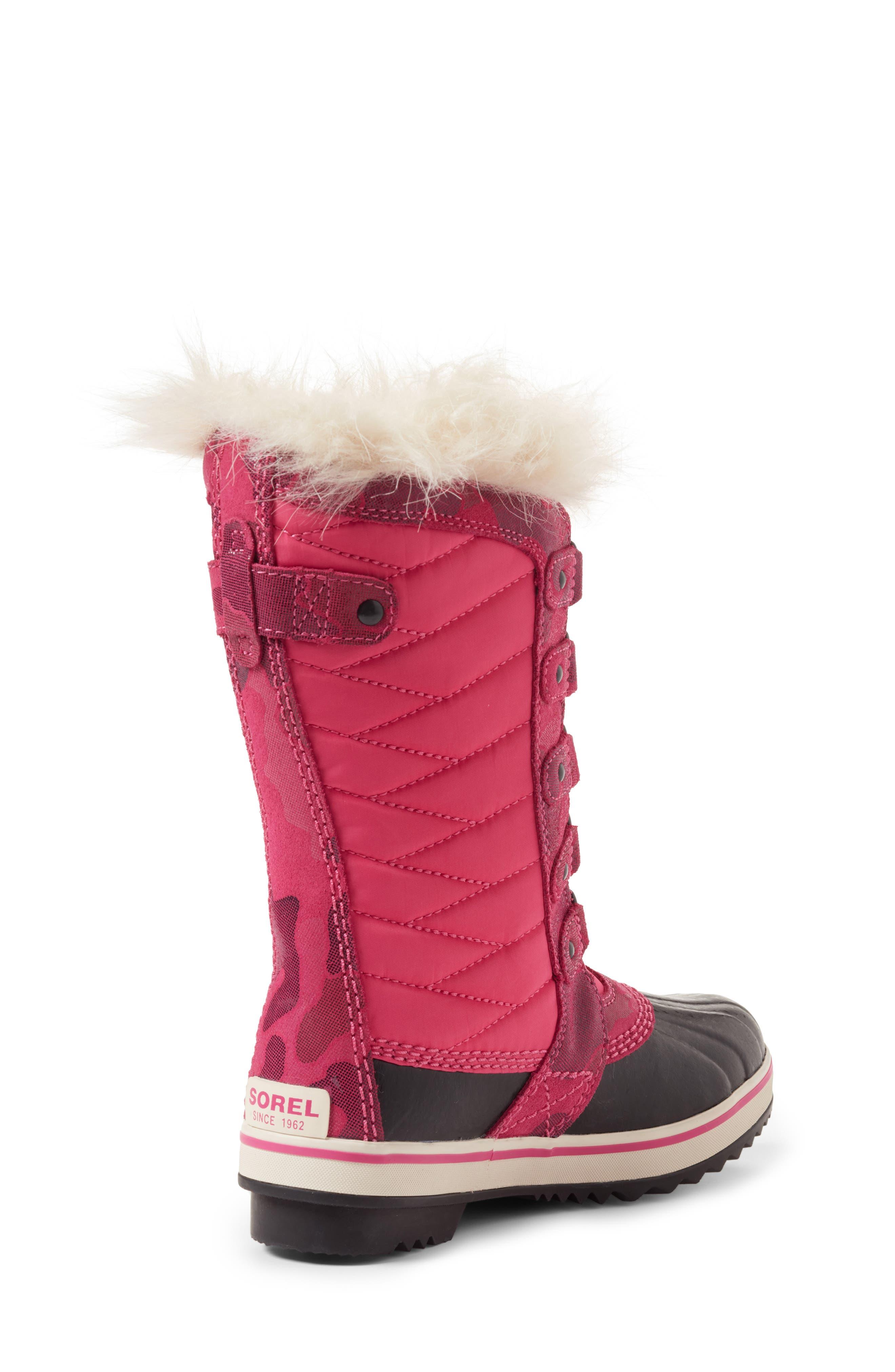 Alternate Image 2  - SOREL Tofino II Faux Fur Lined Waterproof Boot (Little Kid & Big Kid)