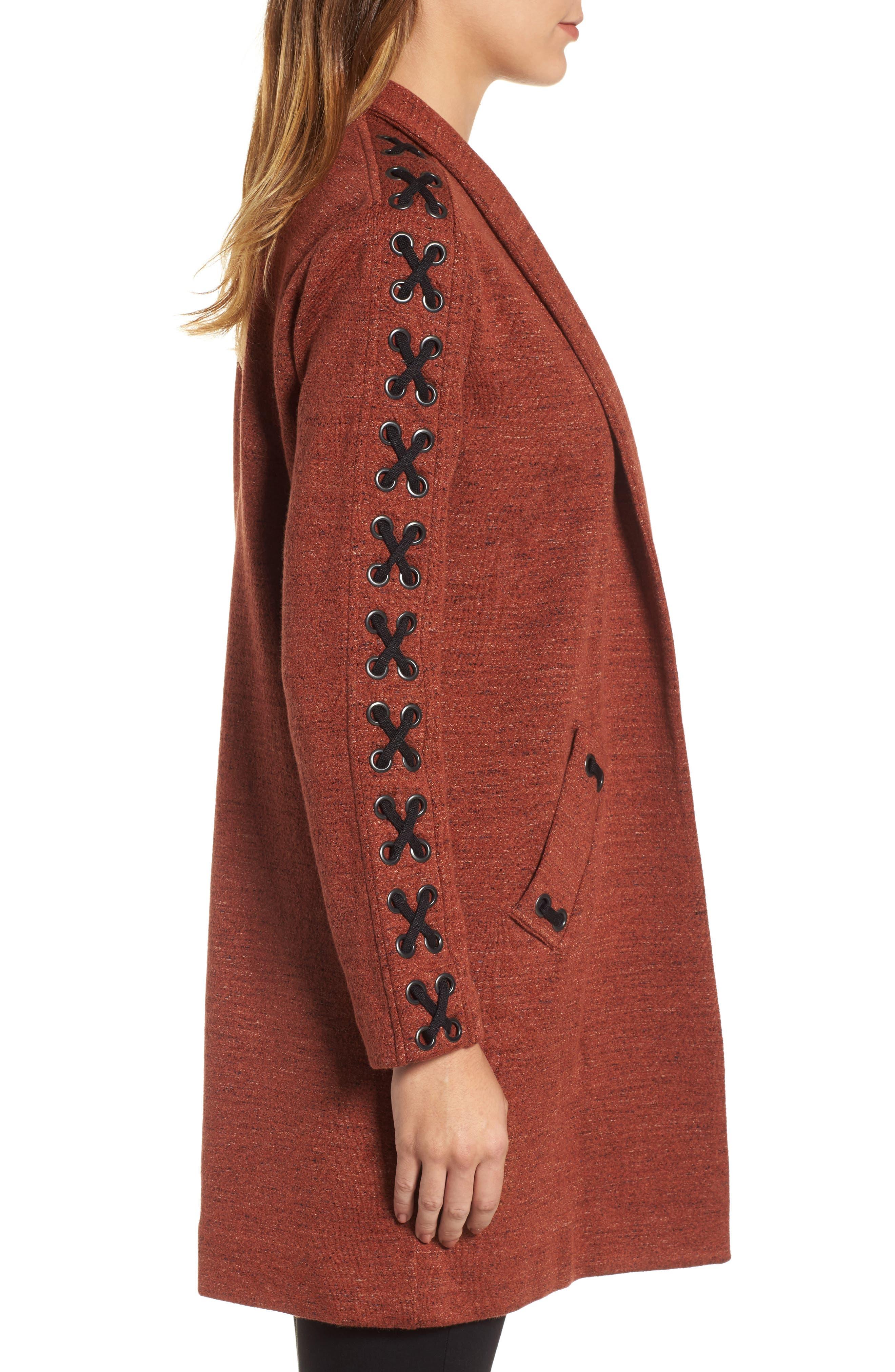 Alternate Image 3  - NIC+ZOE Crisscross Detail Knit Jacket (Regular & Petite)