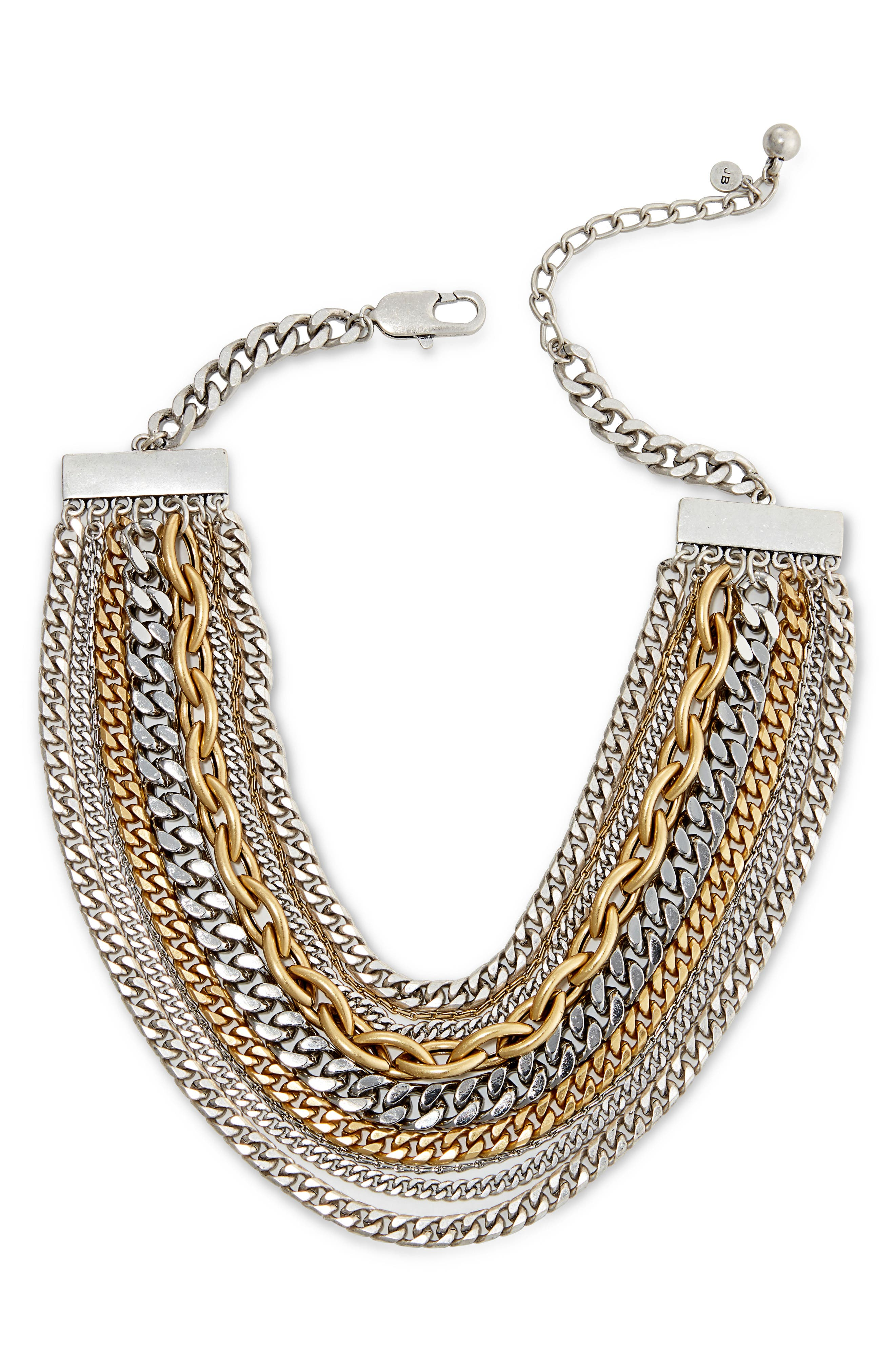 Marra Collar Necklace,                             Alternate thumbnail 3, color,                             Silver Multi