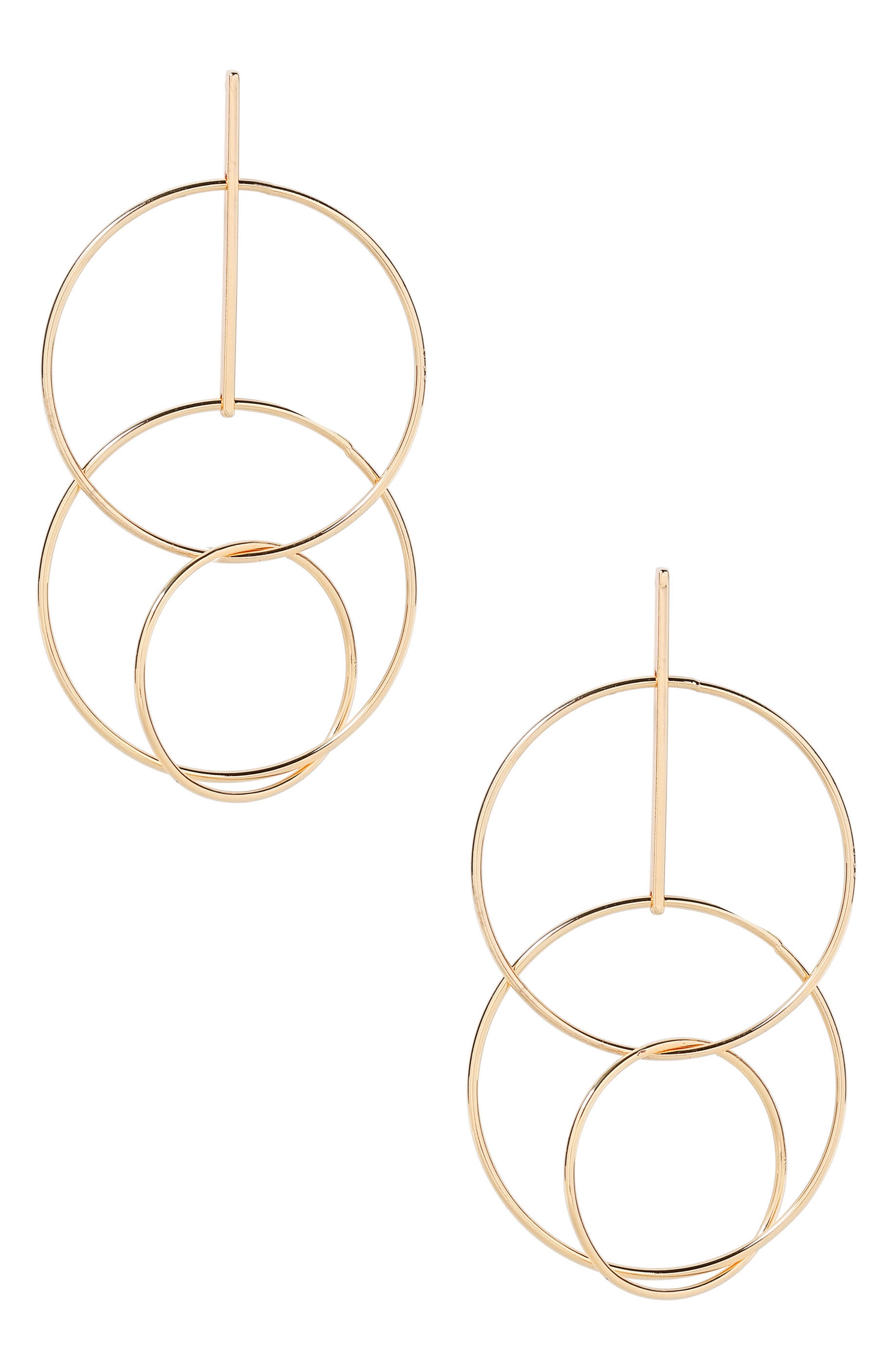 Circle Statement Earrings,                         Main,                         color, Gold