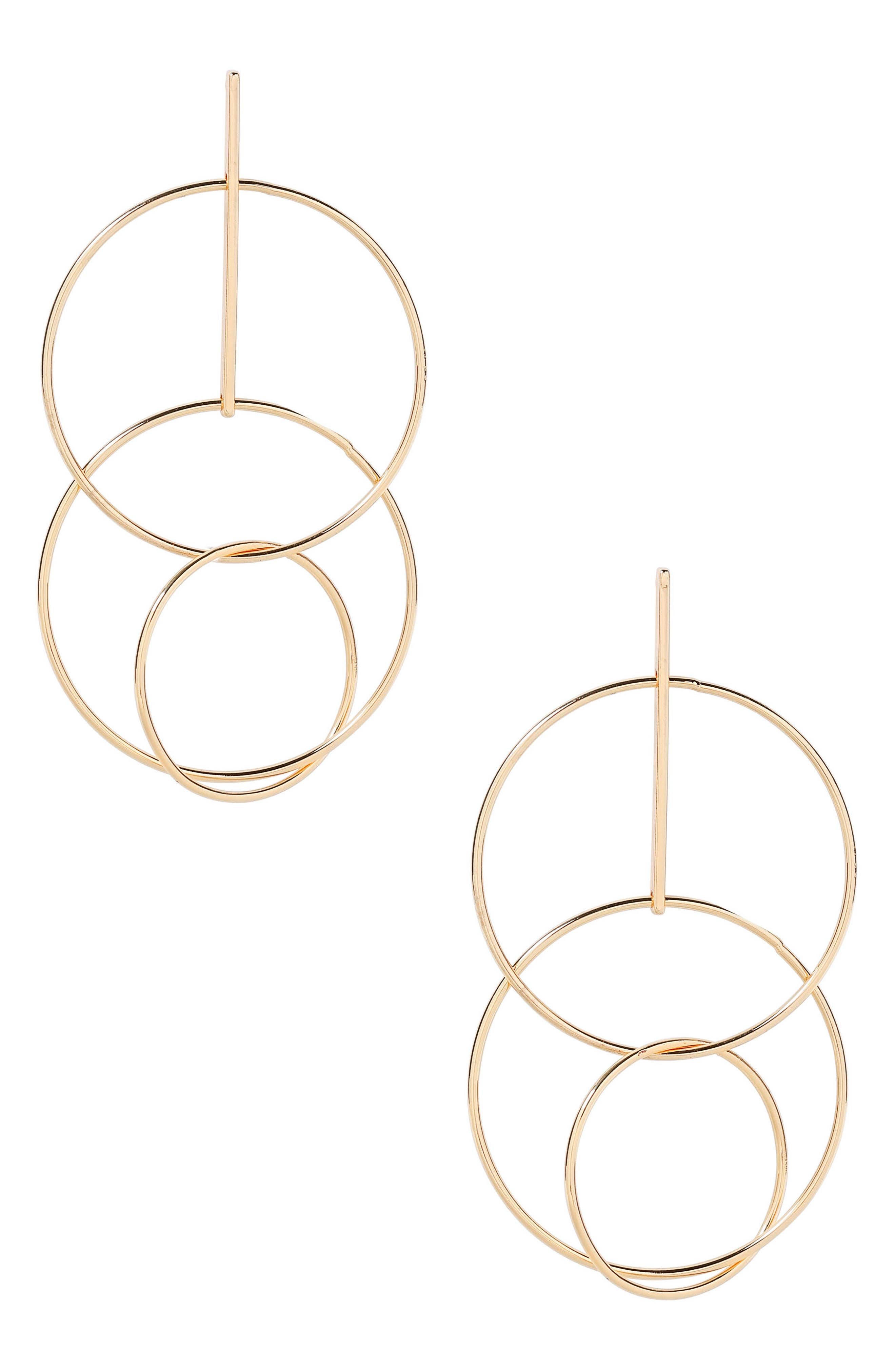 Ettika Circle Statement Earrings