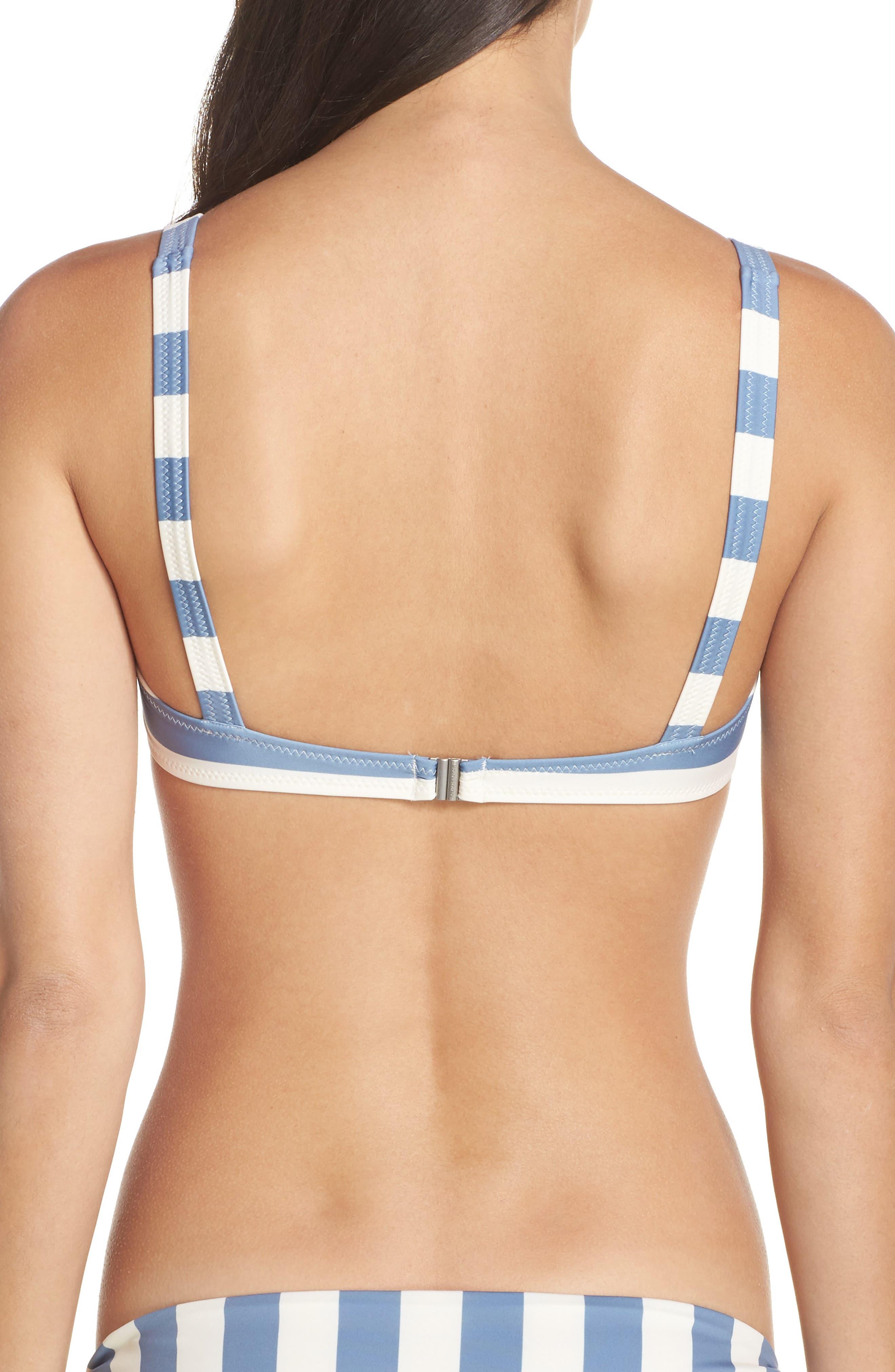 The Jane Bikini Top,                             Alternate thumbnail 2, color,                             Ice Stripe