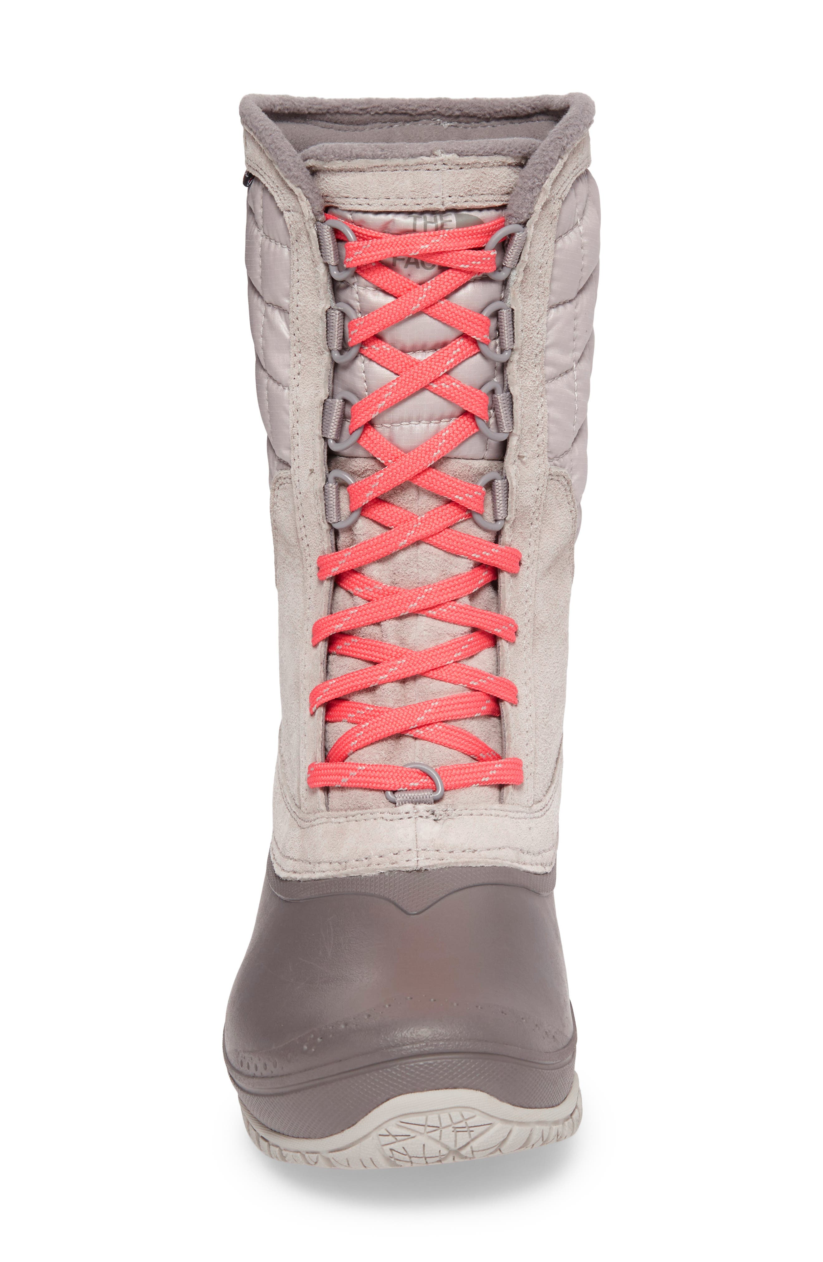 ThermoBall<sup>™</sup> Utility Waterproof Boot,                             Alternate thumbnail 4, color,                             Dove Grey/ Calypso Coral