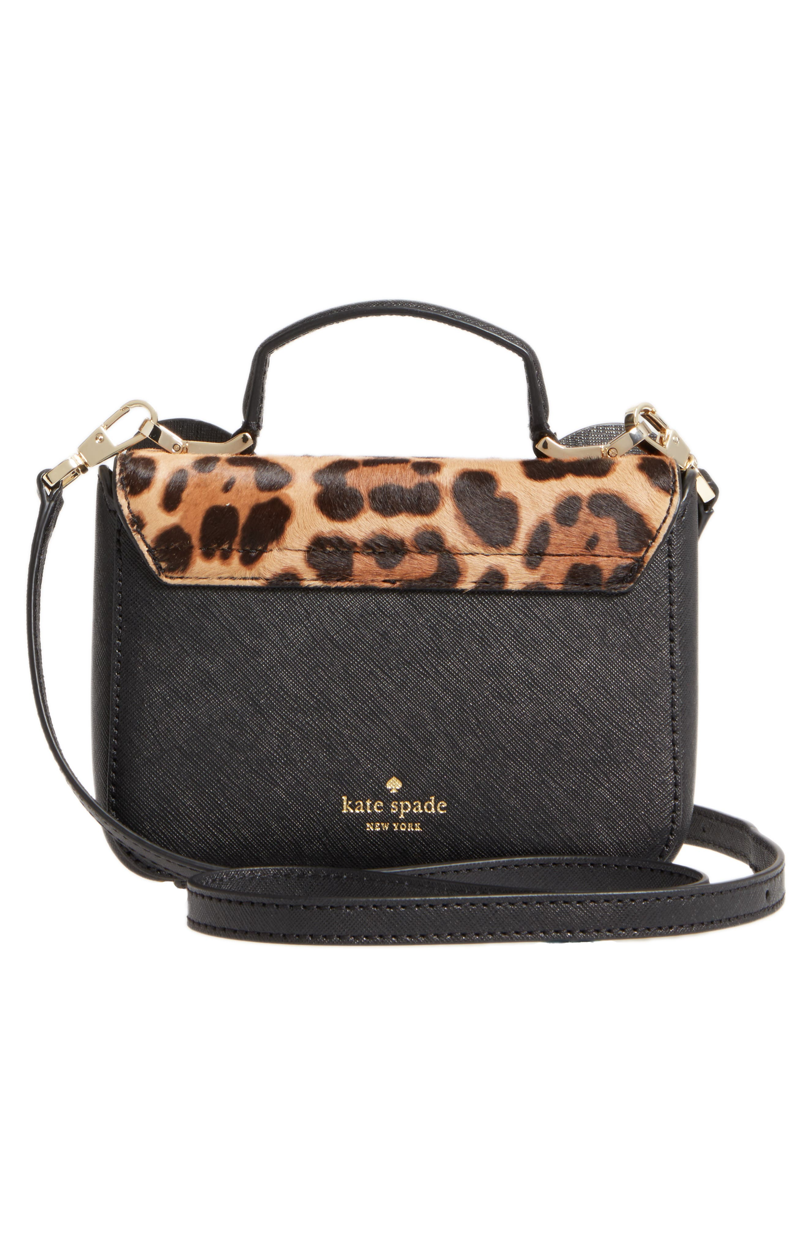 Alternate Image 3  - kate spade new york run wild mini janine genuine calf hair crossbody bag