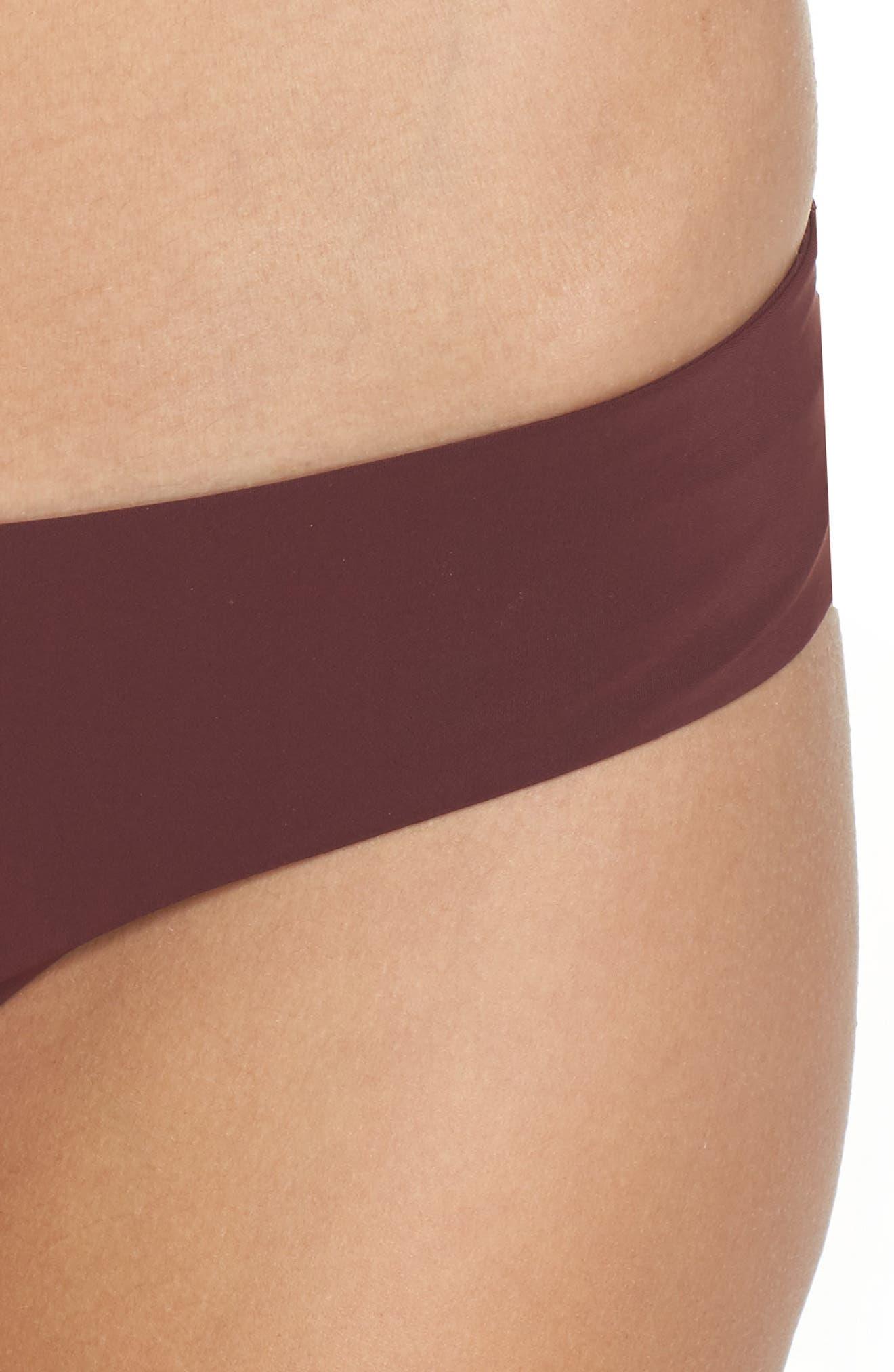 Yaya the Yuppy Bikini Bottoms,                             Alternate thumbnail 4, color,                             Burgundy