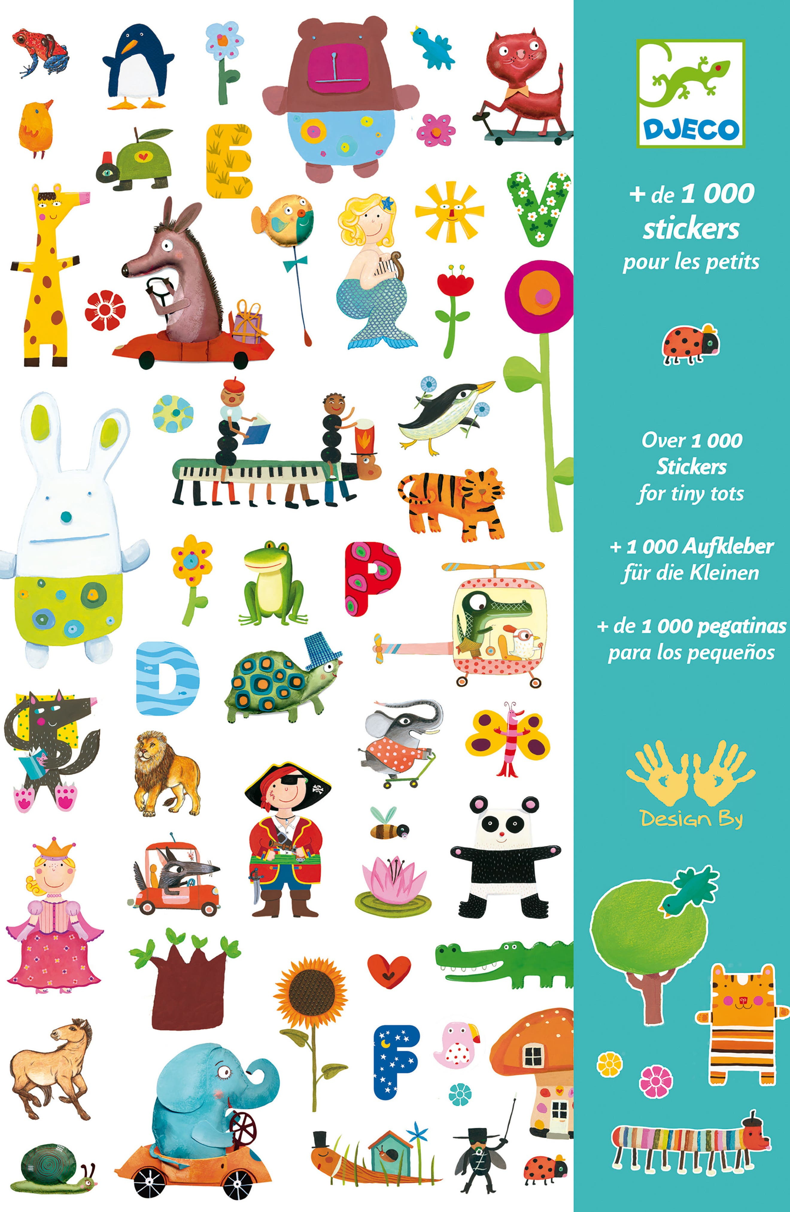 Djeco Over 1,000 Stickers for Tiny Tots Sticker Collection