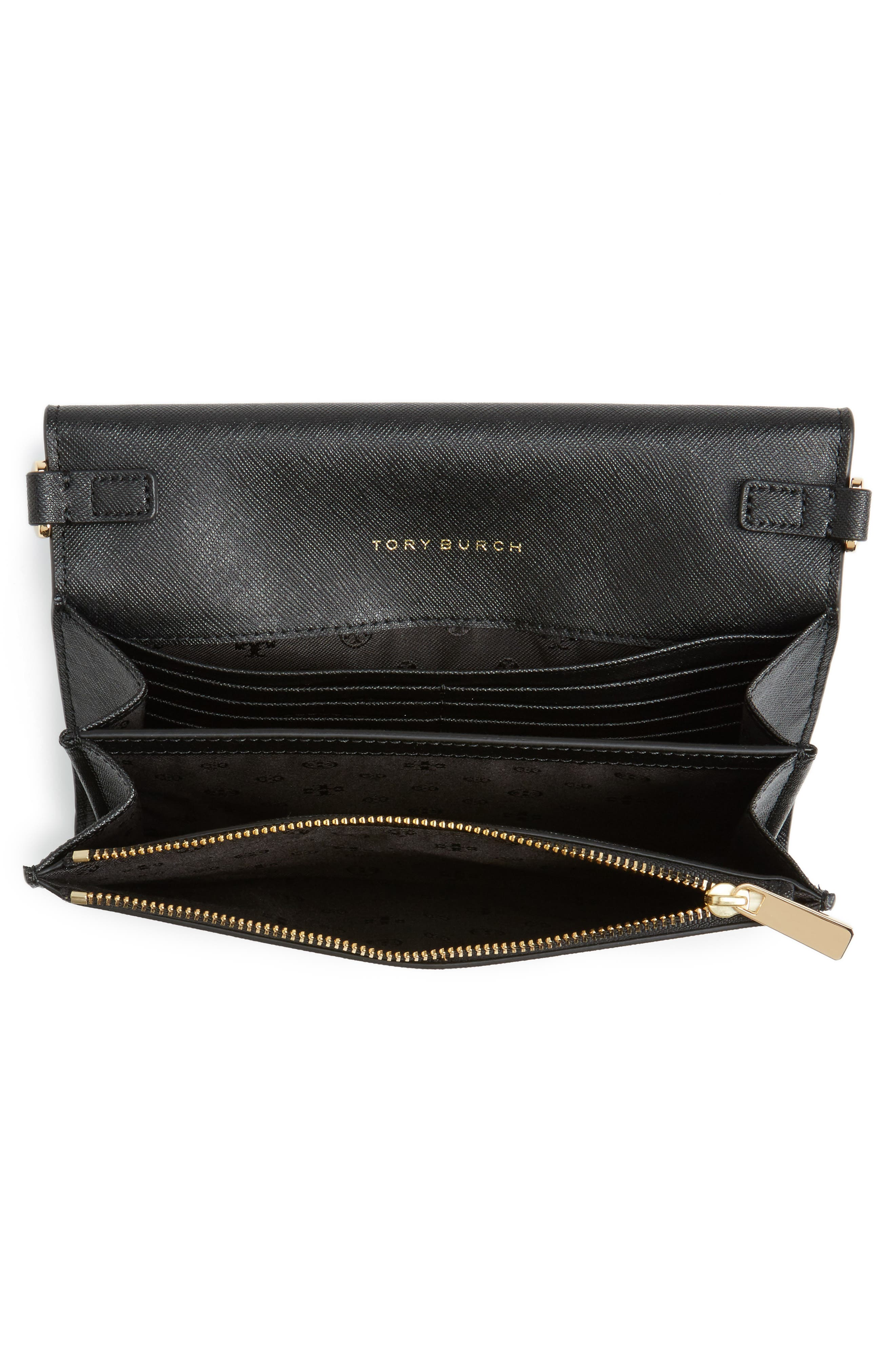 'Robinson' Leather Wallet on a Chain,                             Alternate thumbnail 2, color,                             Black