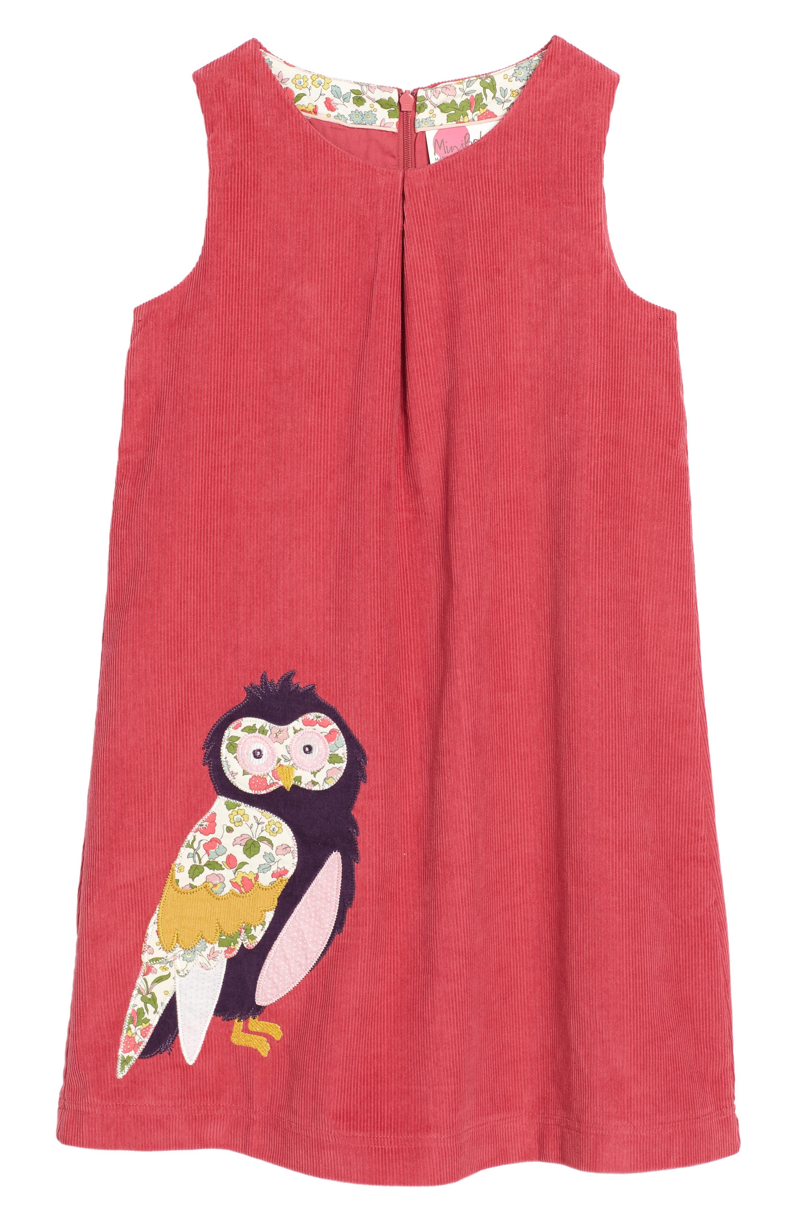 Mini Boden Animal Appliqué Dress (Toddler Girls, Little Girls & Big Girls)