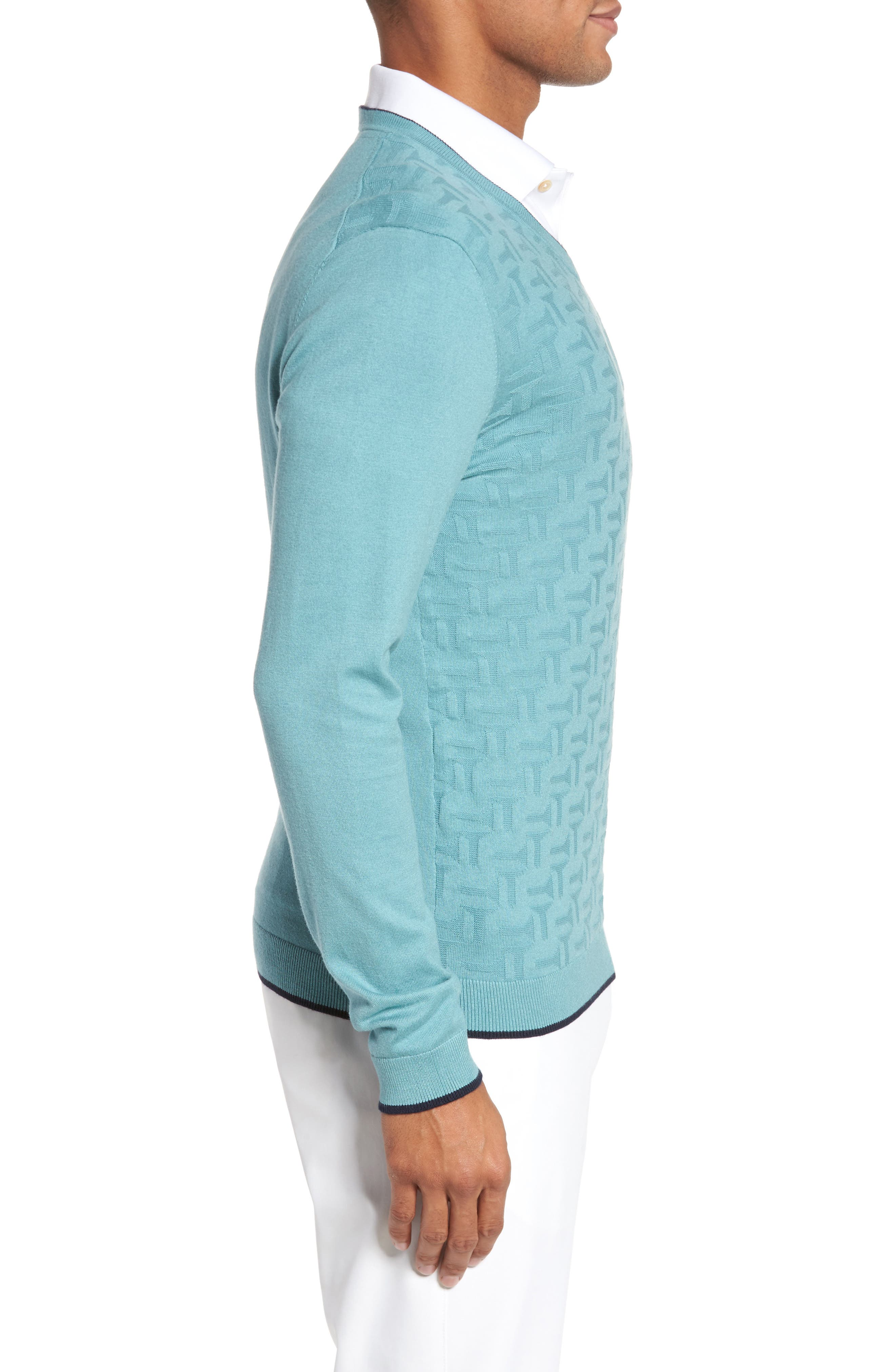 Alternate Image 3  - Ted Baker London Armstro Tipped Golf Tee Sweater
