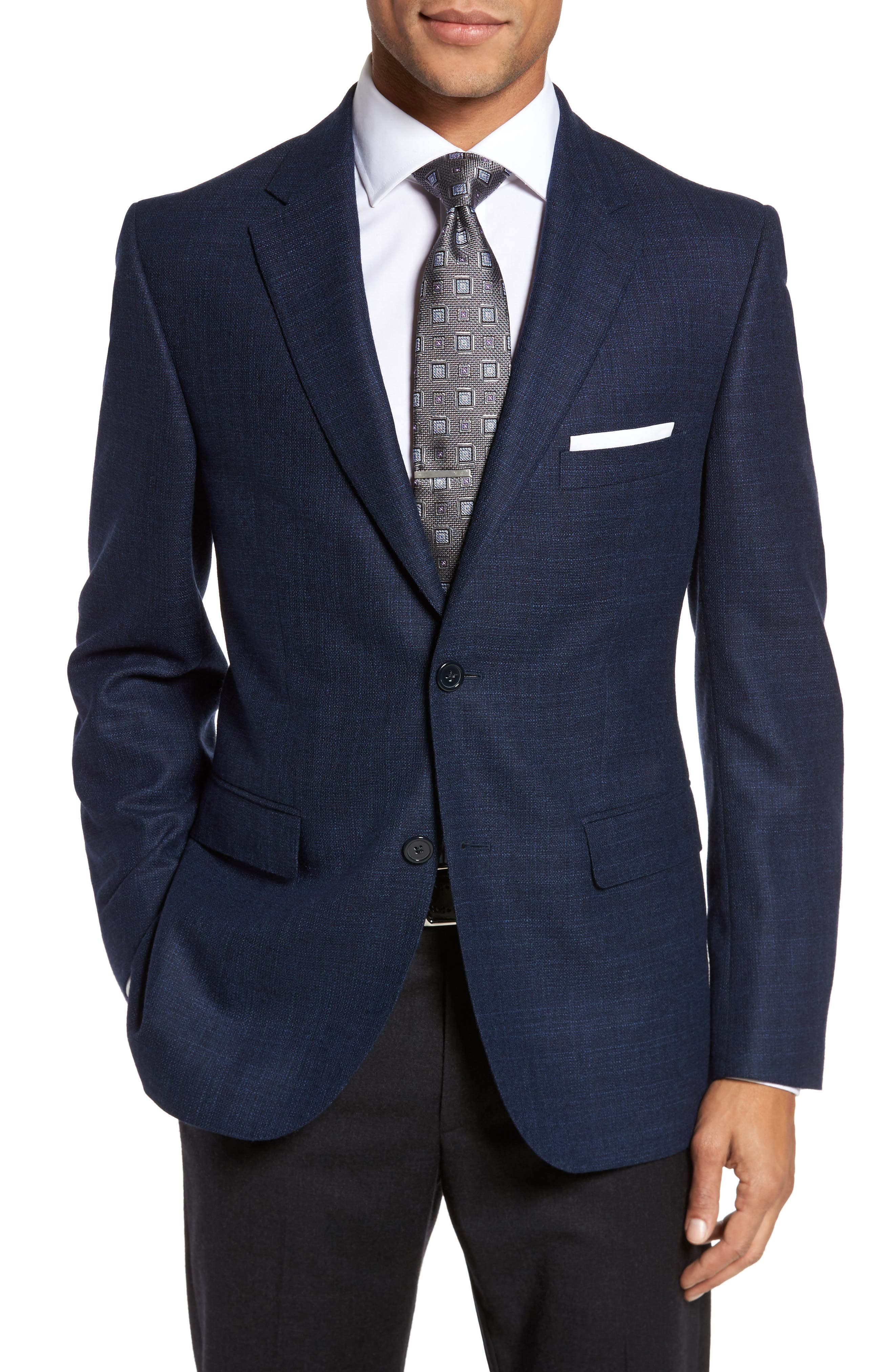 Classic Fit Wool Blazer,                         Main,                         color, Blue