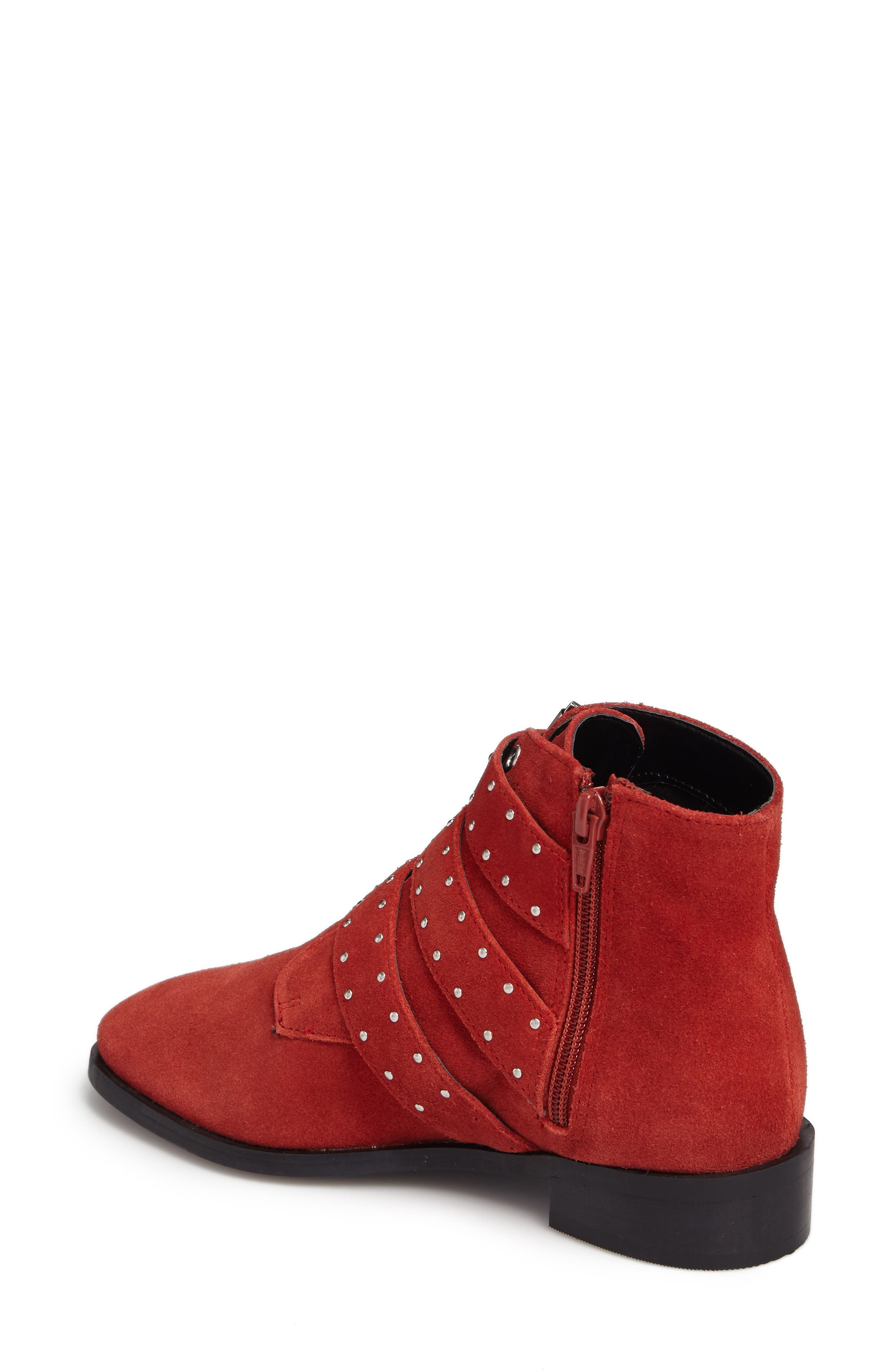 Krown Studded Bootie,                             Alternate thumbnail 2, color,                             Red
