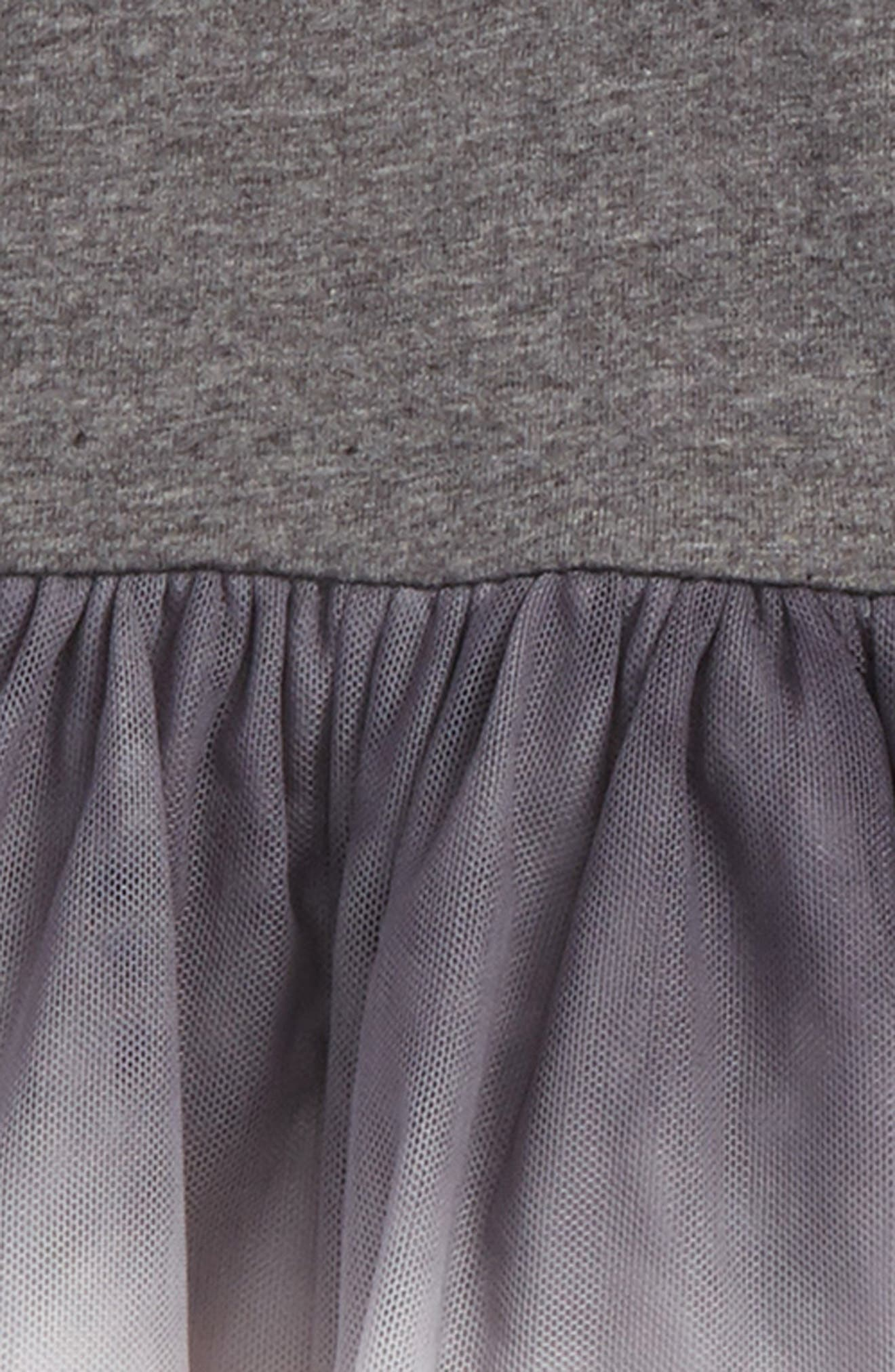 Dip Dye Tulle Dress,                             Alternate thumbnail 2, color,                             Dark Grey