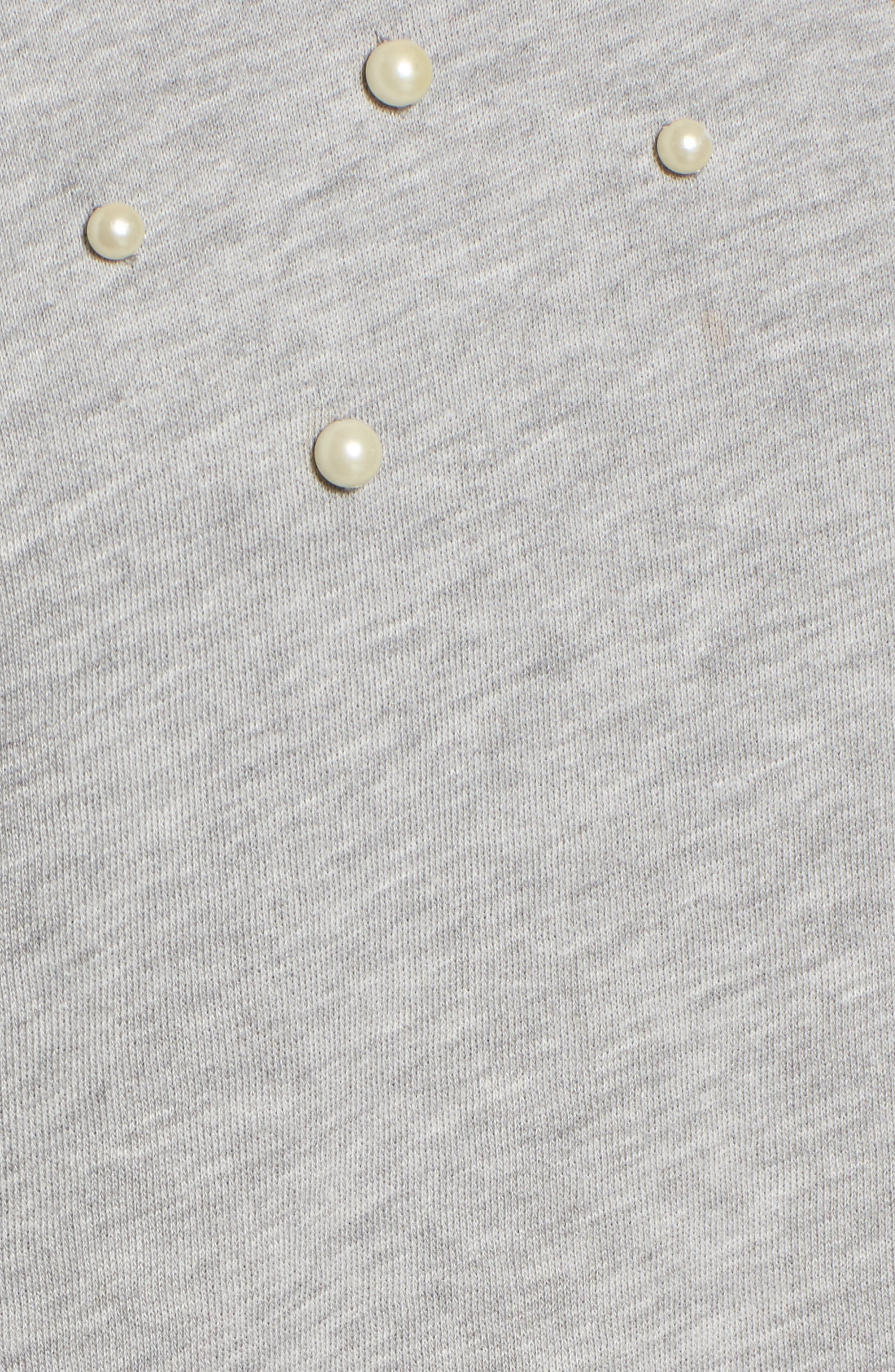 Alternate Image 5  - Halogen® Beaded Sweatshirt (Regular & Petite)