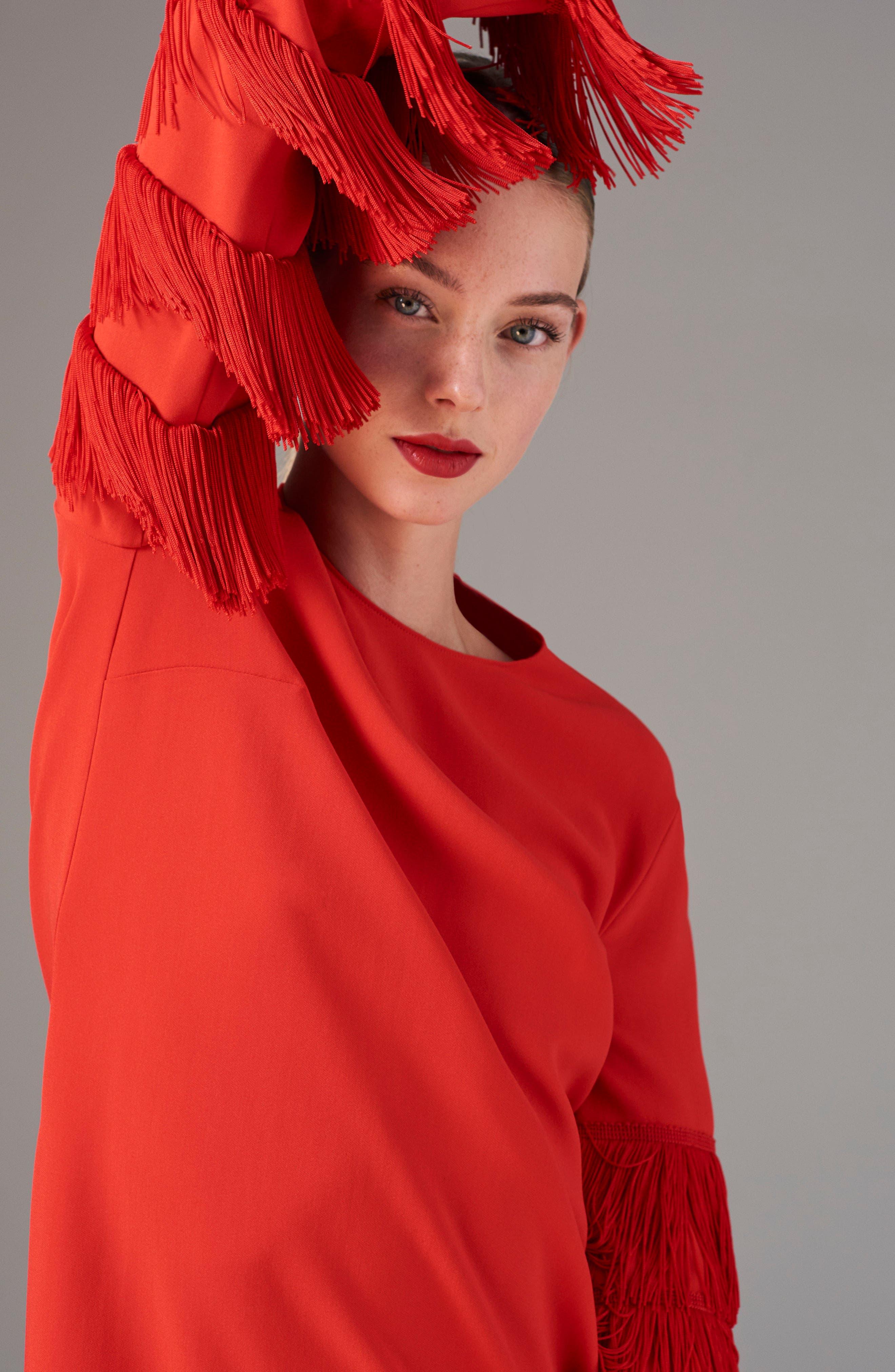 Alternate Image 3  - Stella McCartney Fringe Sleeve Stretch Cady Dress