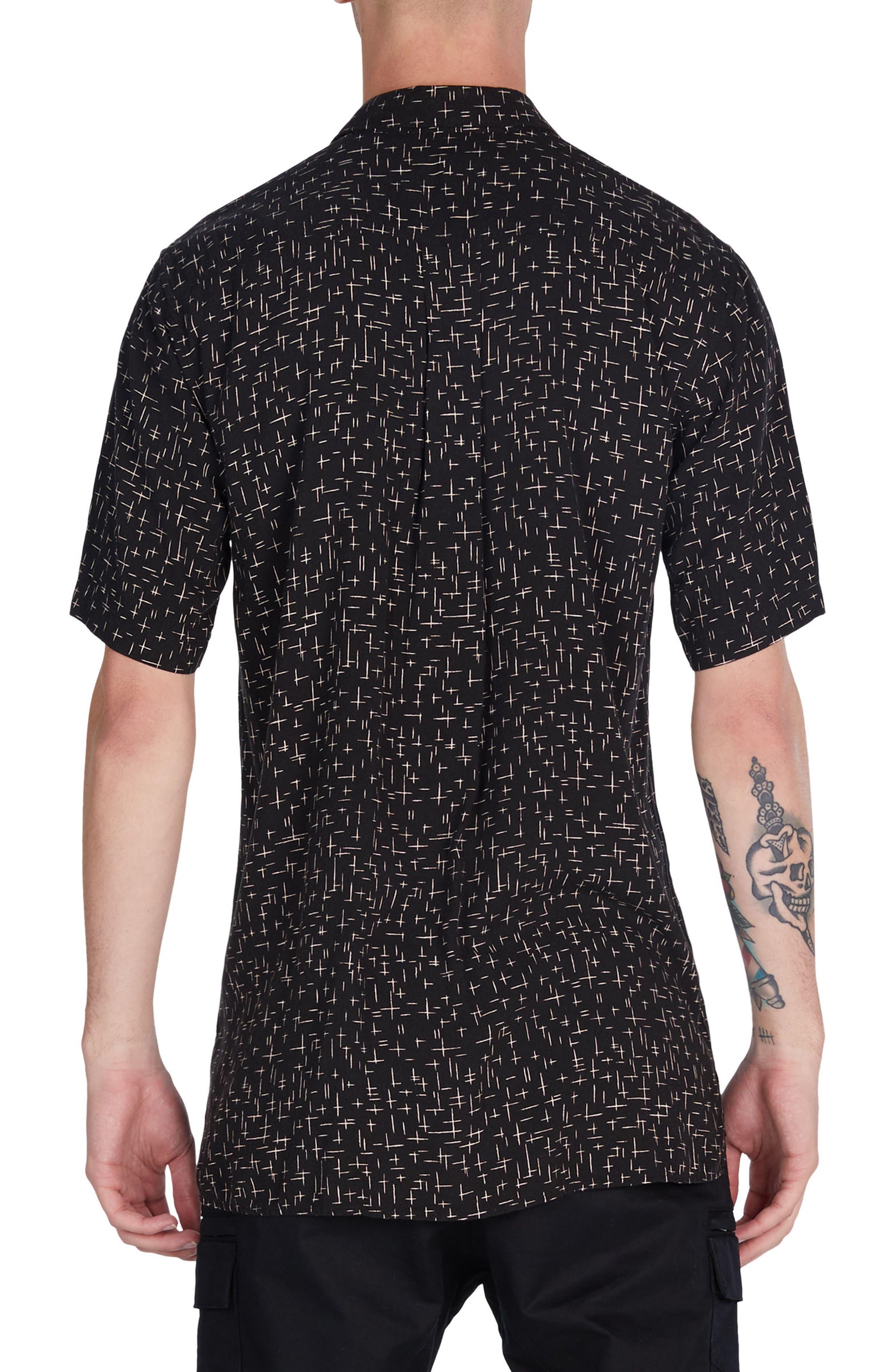 XCross Box Shirt,                             Alternate thumbnail 2, color,                             Black/ Quartz