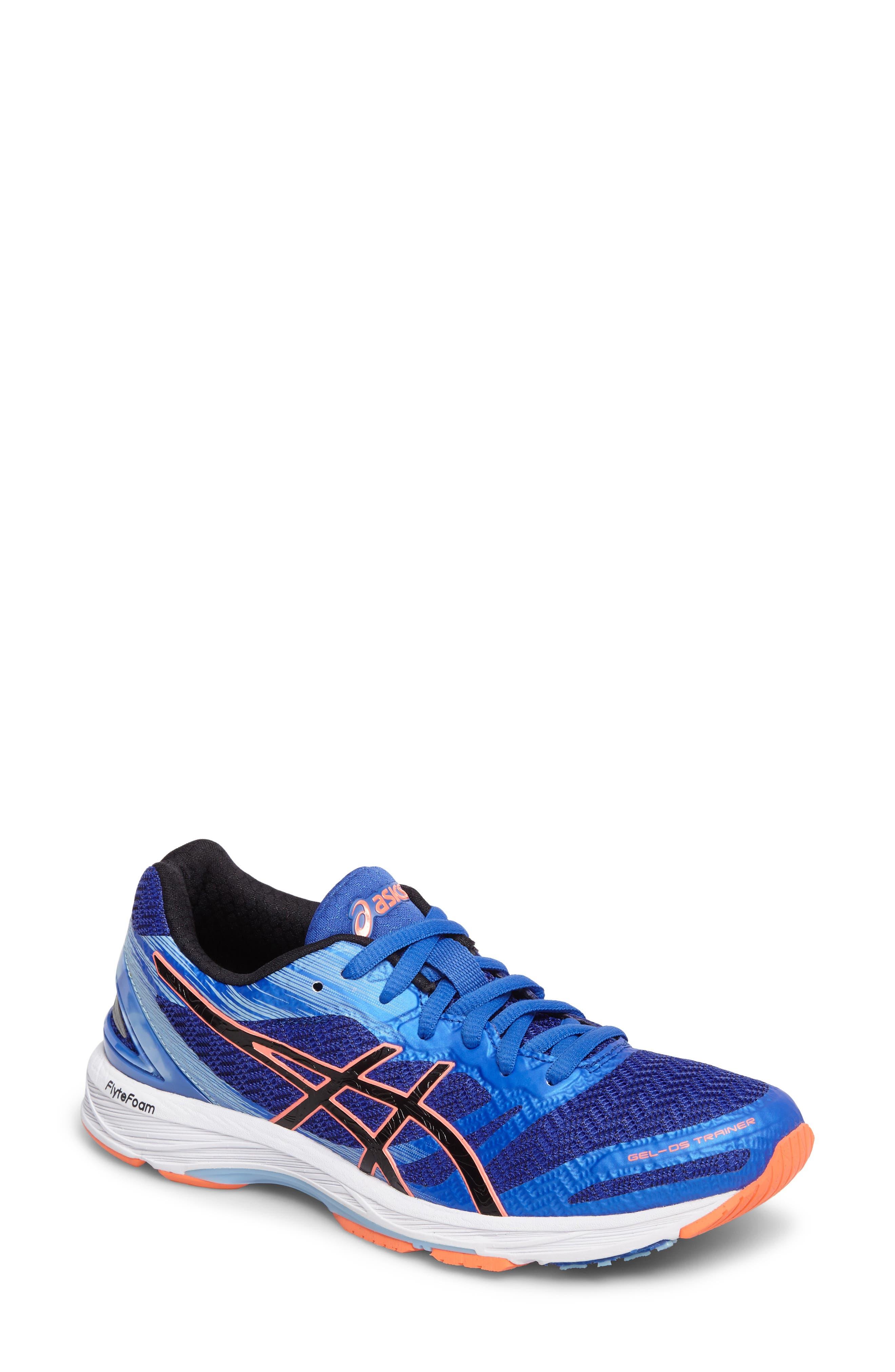 GEL-DS Trainer 22 Running Shoe,                             Main thumbnail 1, color,                             Blue Purple/ Black/ Coral