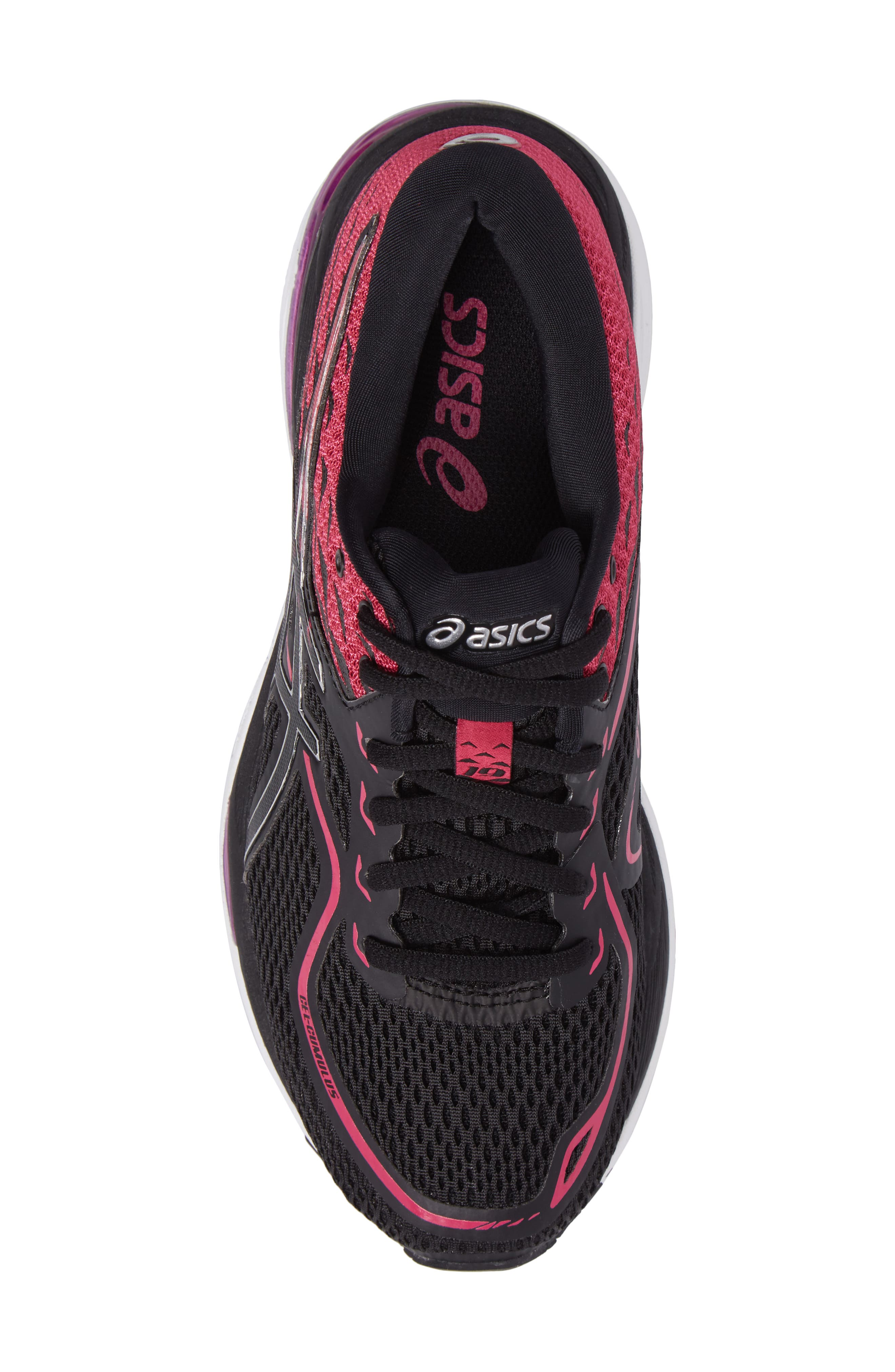 Gel Cumulus 19 2A Running Shoe,                             Alternate thumbnail 5, color,                             Black/ Silver/ Pink Peacock