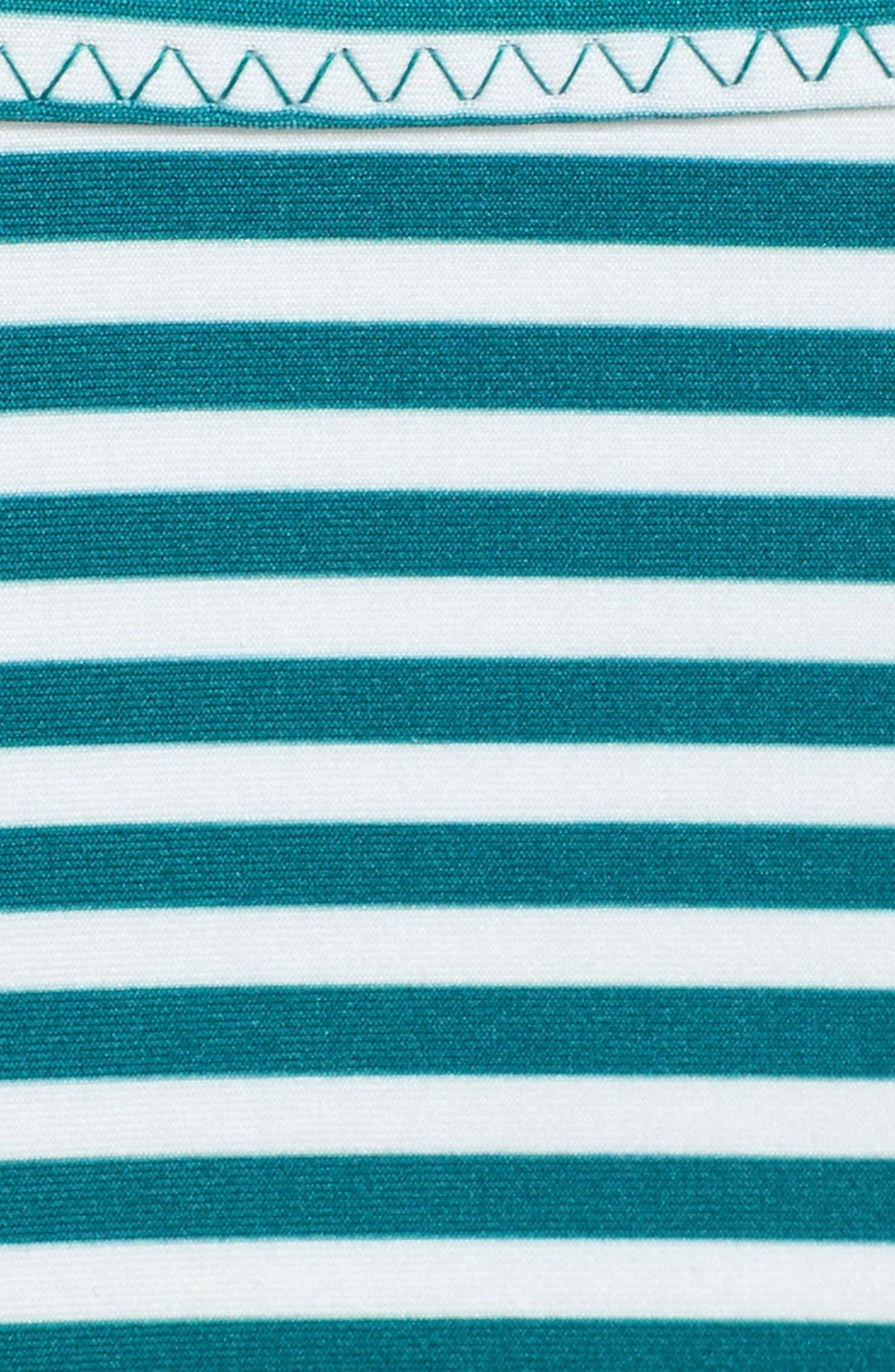 Avalon Wrap Bikini Top,                             Alternate thumbnail 5, color,                             Black/ White