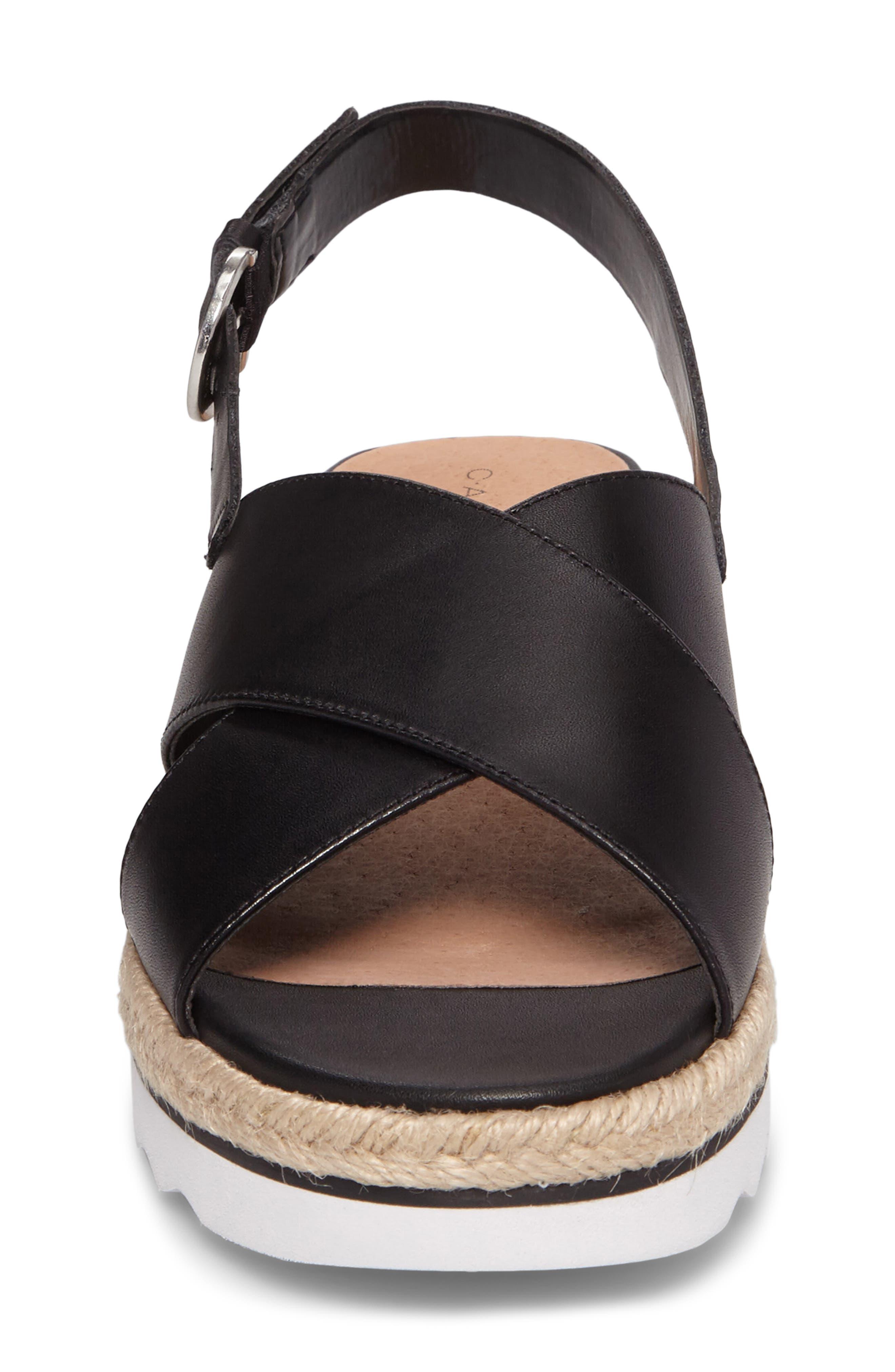 Caslon Lucas Slingback Sandal,                             Alternate thumbnail 5, color,                             Black Leather