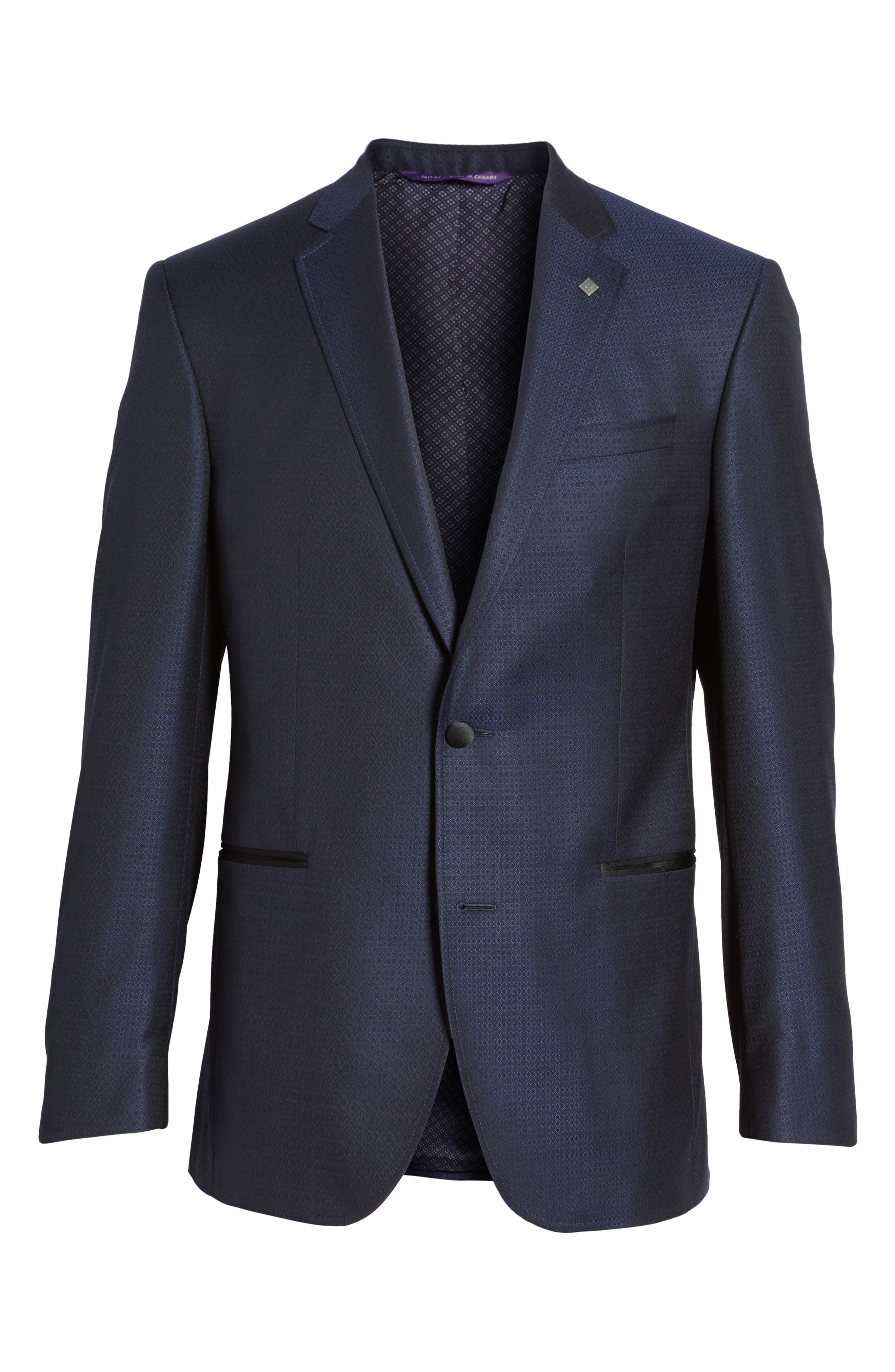 Alternate Image 6  - Ted Baker London Jack Trim Fit Wool Dinner Jacket
